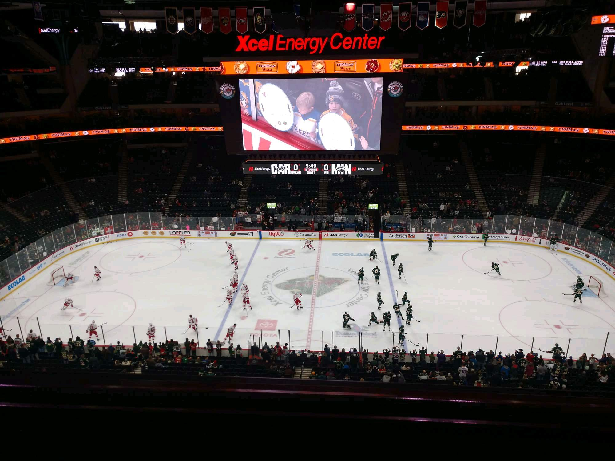 Xcel Energy Center Section 204 Row 2 Seat 6
