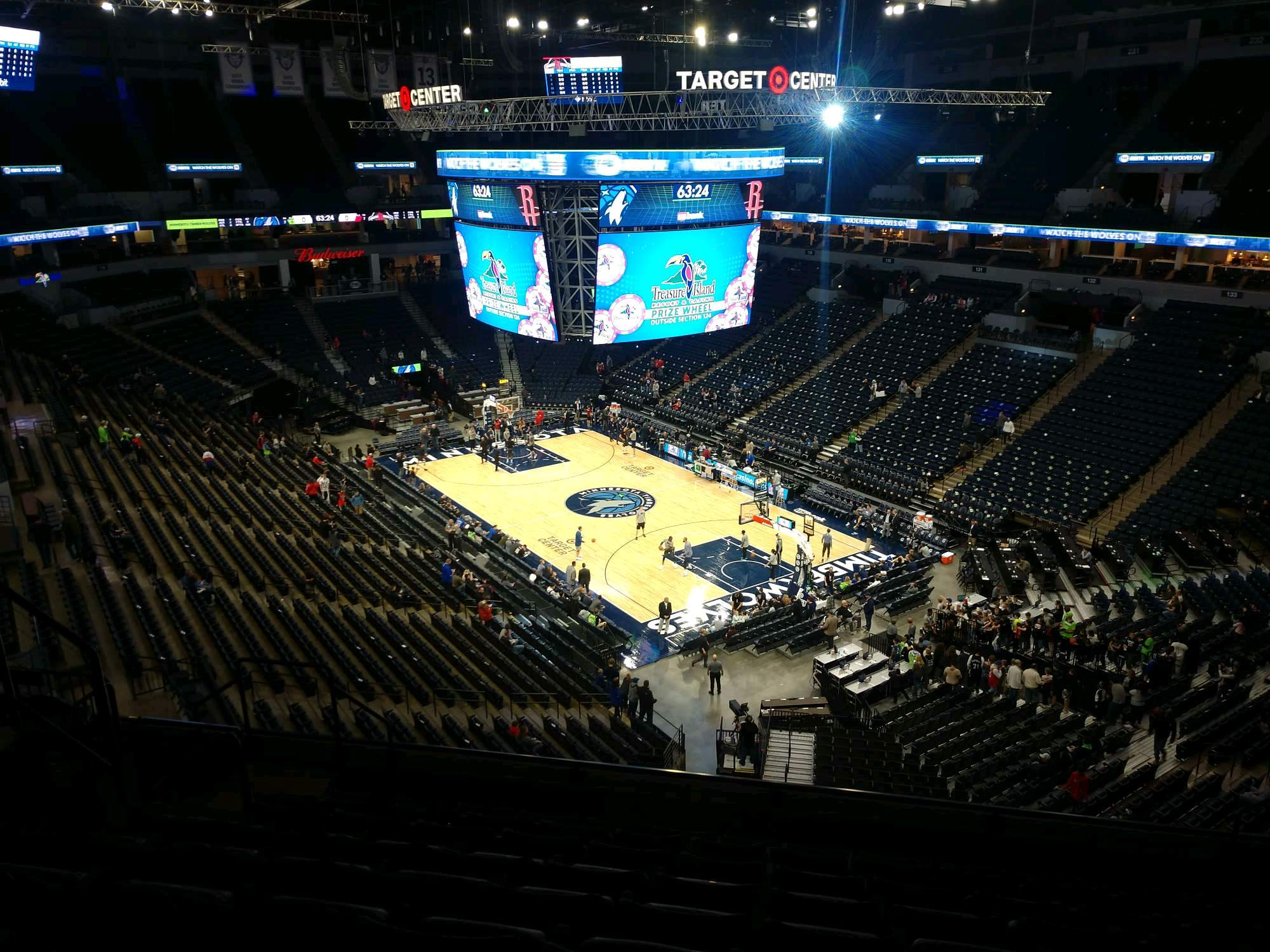 Target Center Section 205 Row J Seat 7