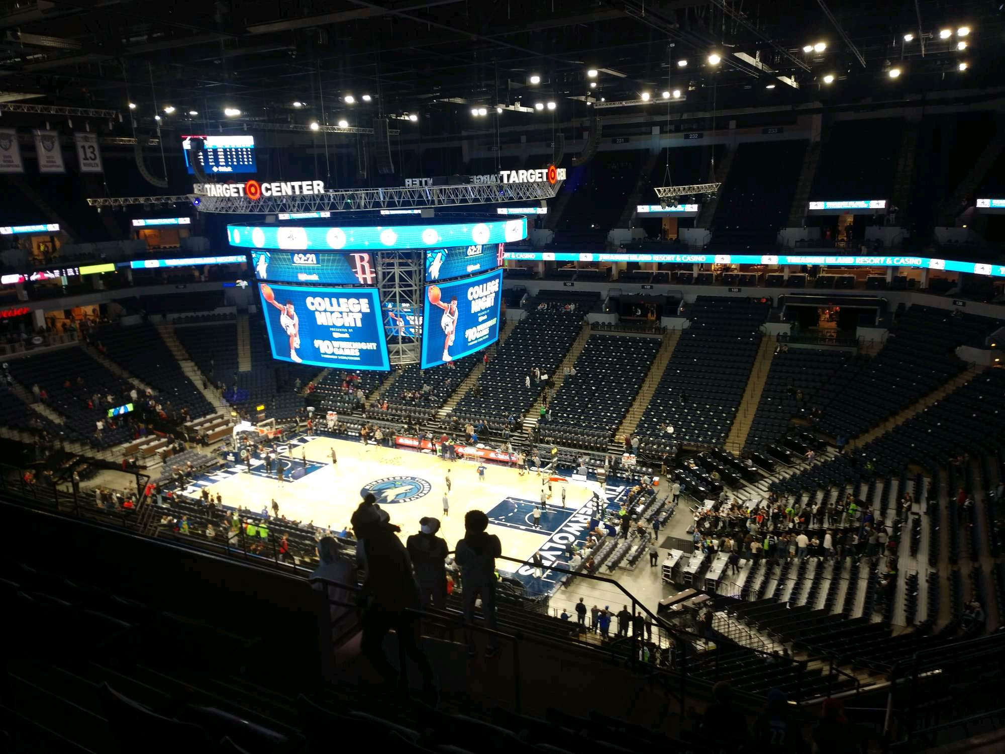 Target Center Section 207 Row N Seat 5