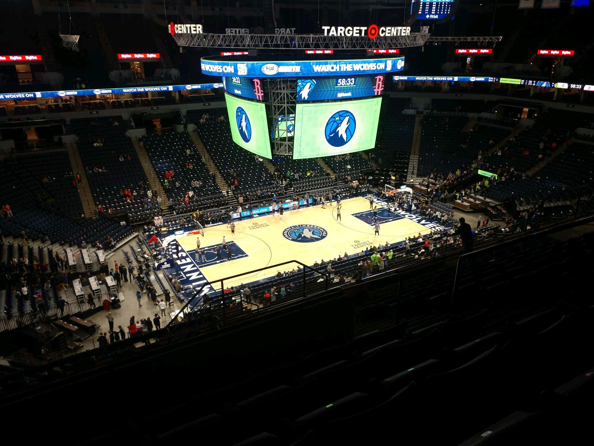 Target Center Section 214 Row N Seat 6