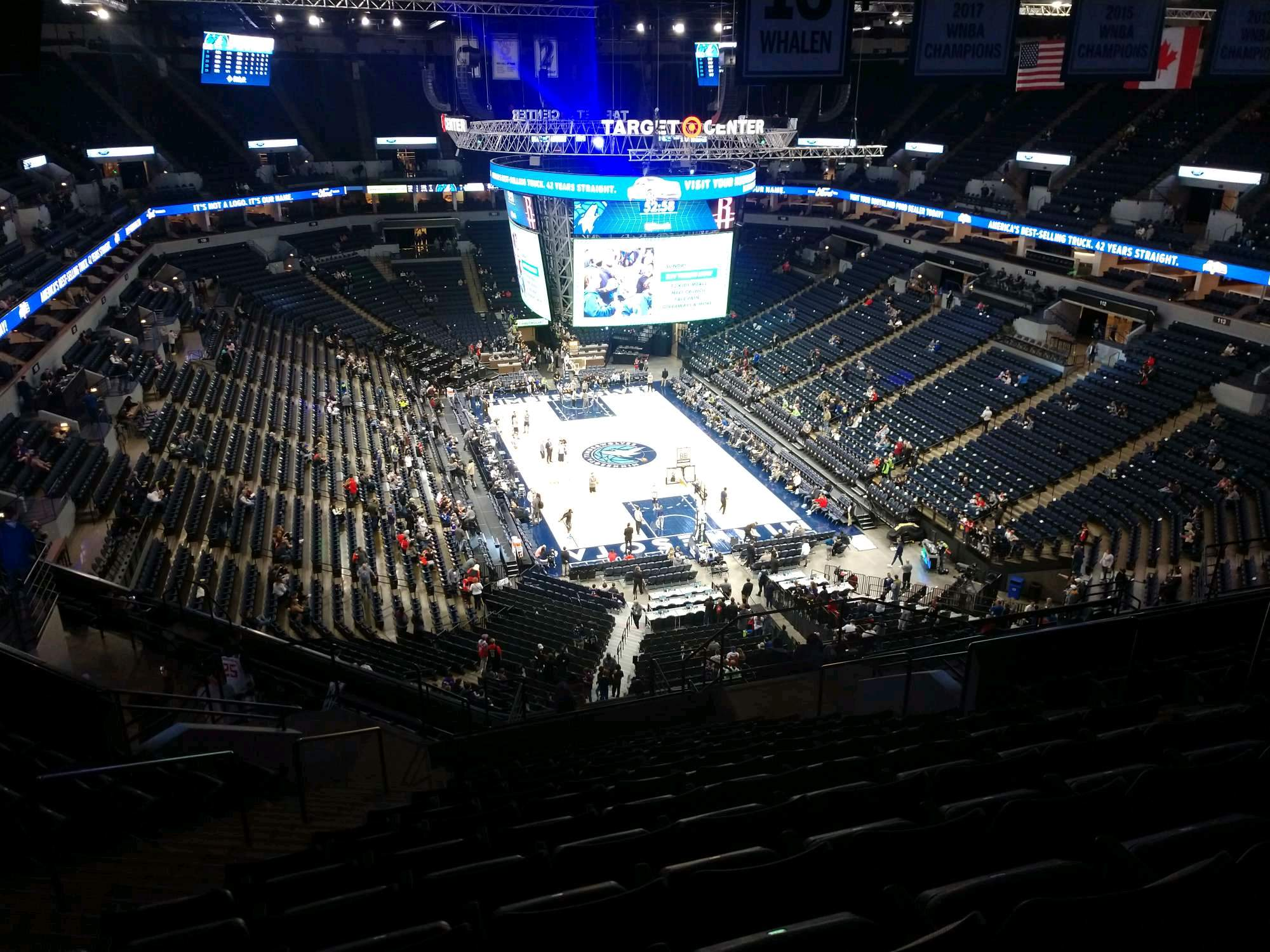 Target Center Section 223 Row S Seat 9