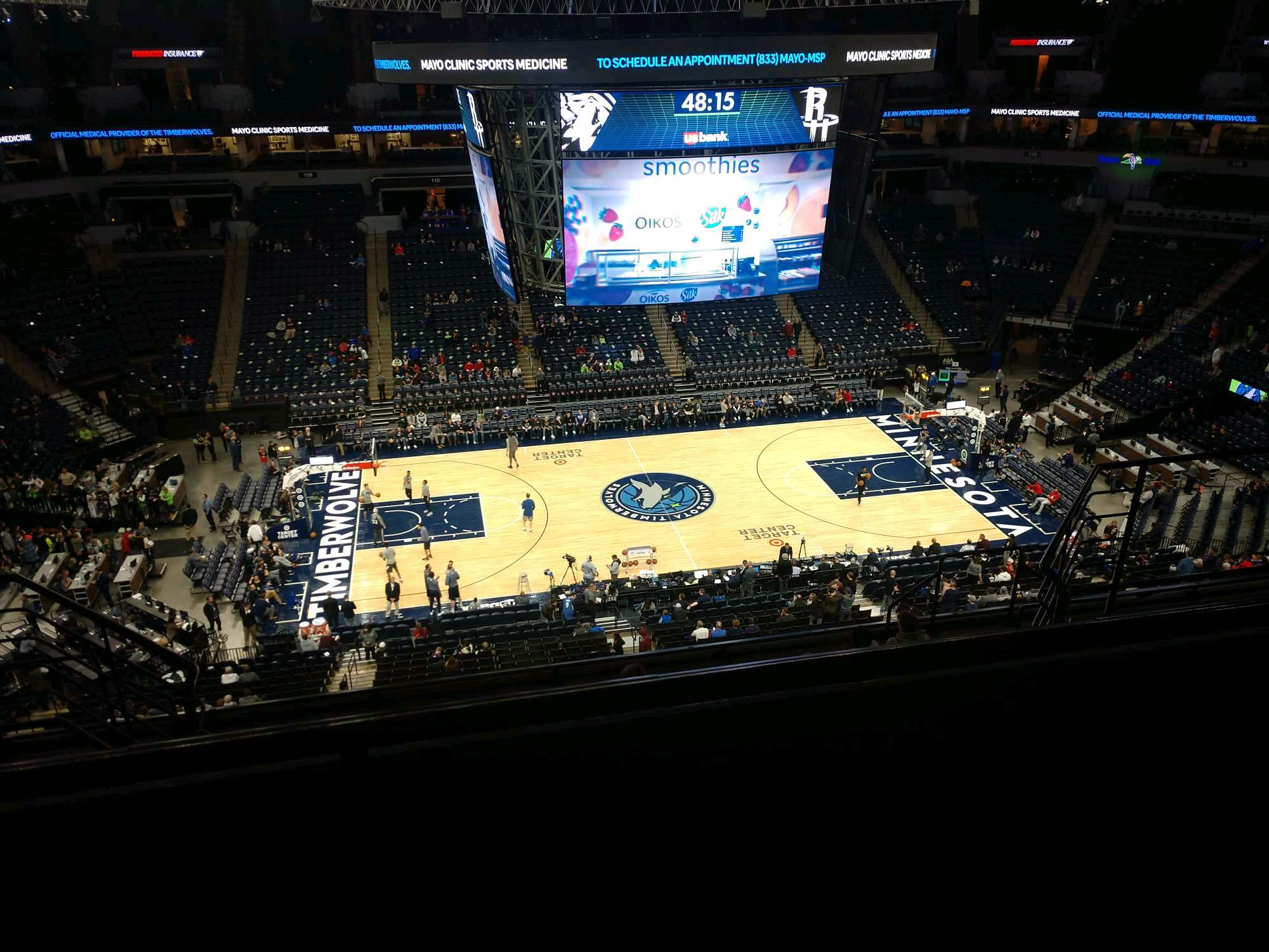 Target Center Section 232 Row K Seat 9