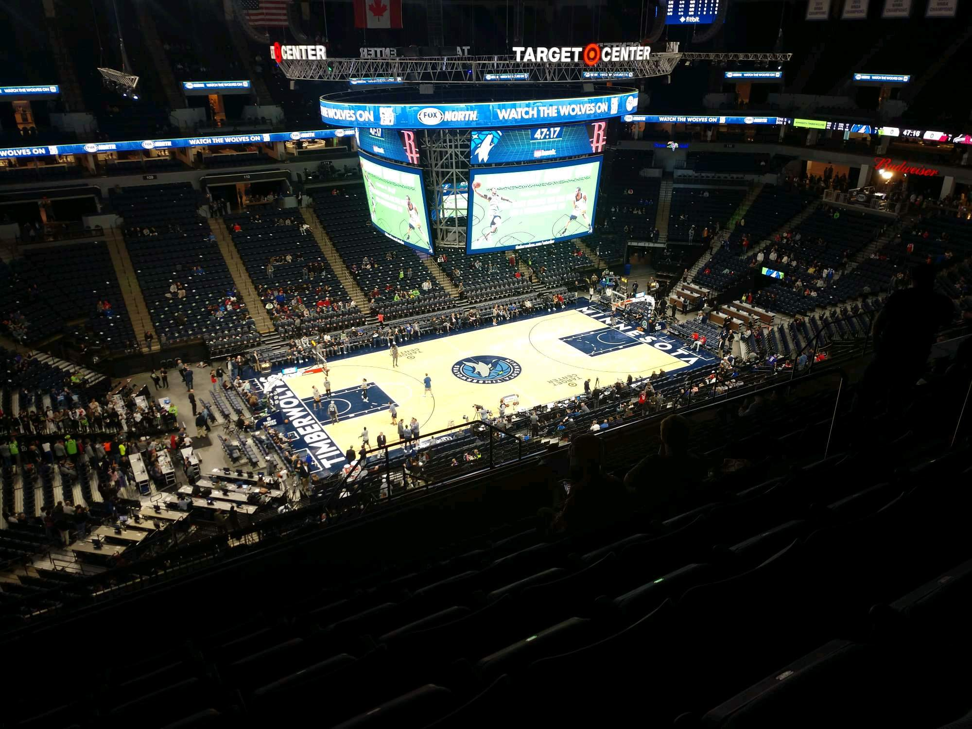 Target Center Section 234 Row Q Seat 8