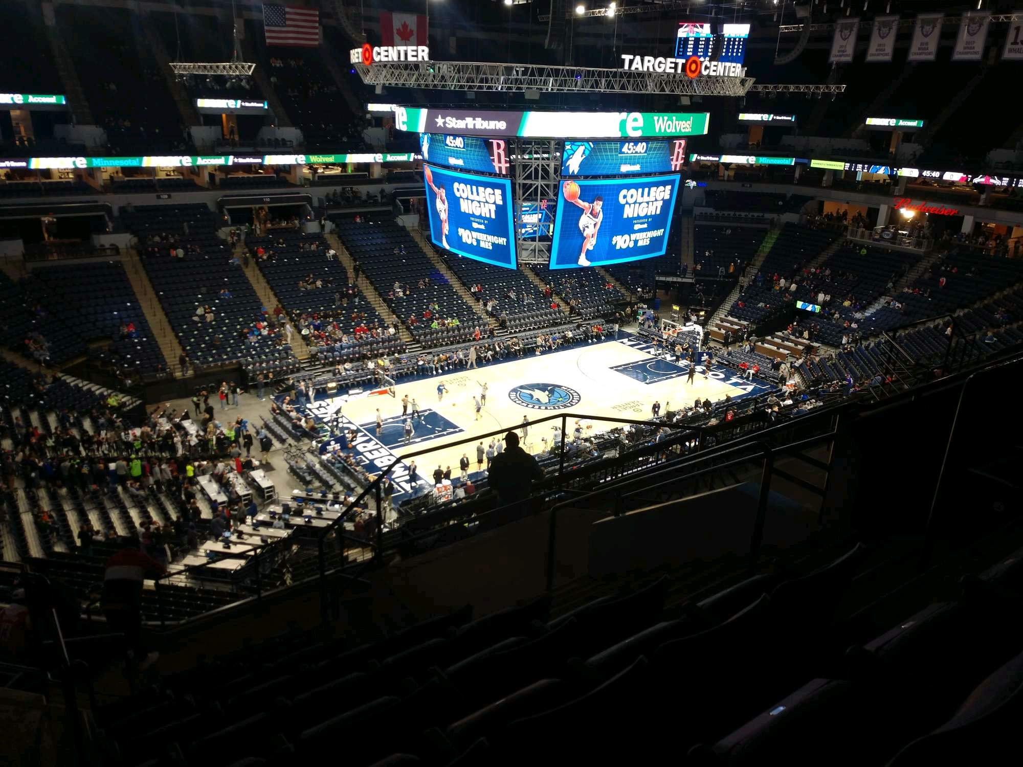 Target Center Section 235 Row L Seat 5
