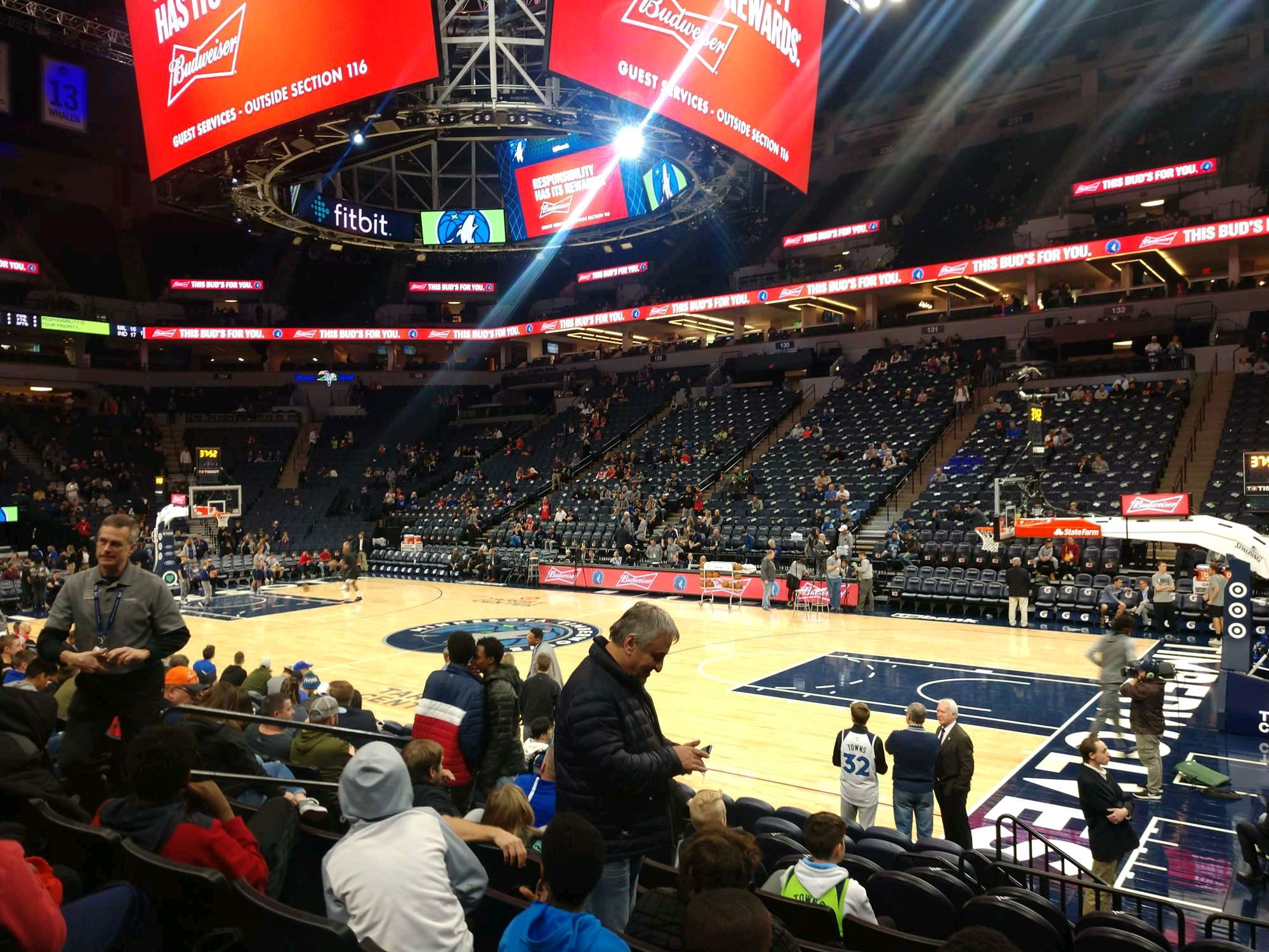 Target Center Section 109 Row F Seat 7