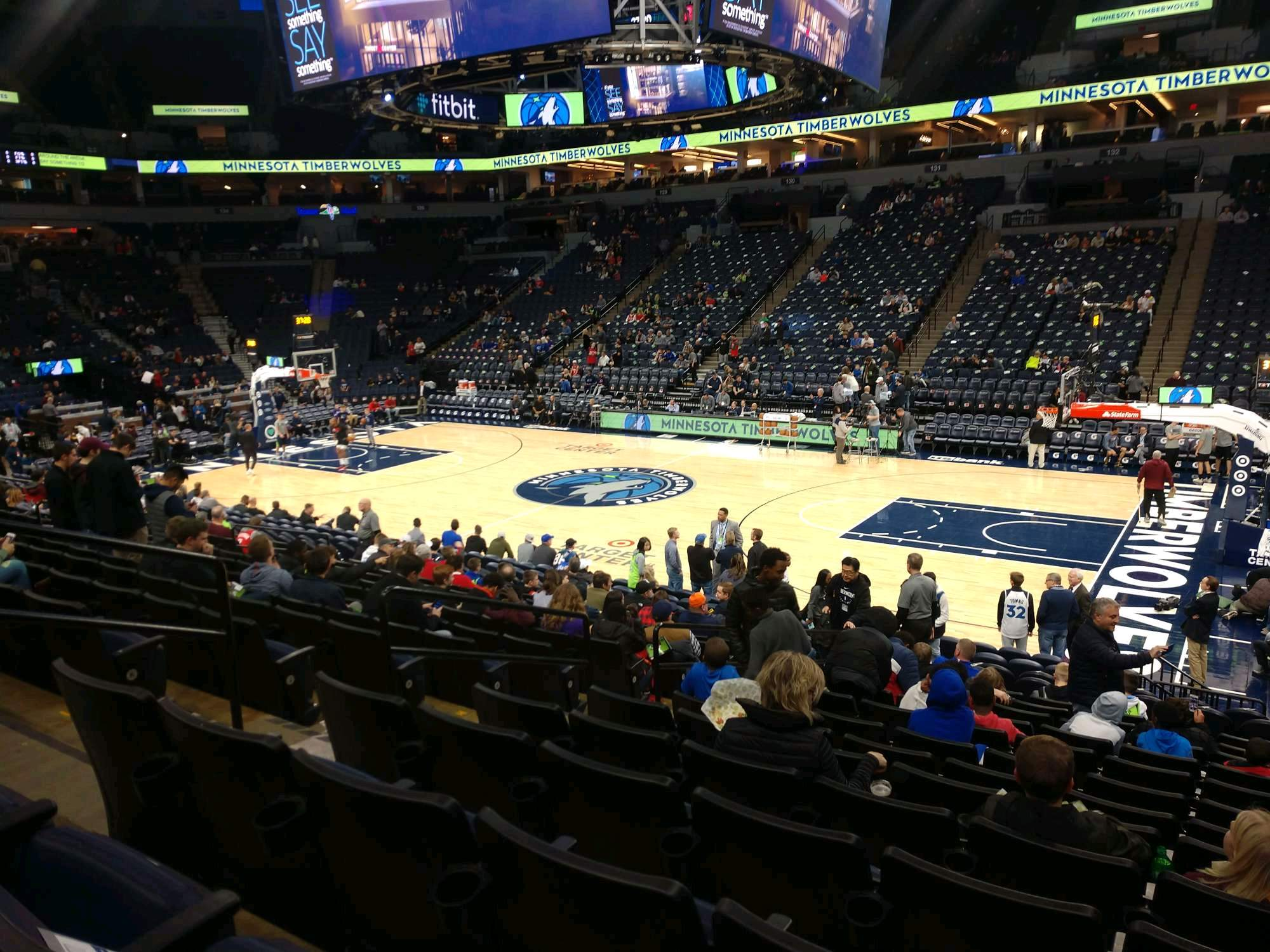 Target Center Section 109 Row N Seat 9