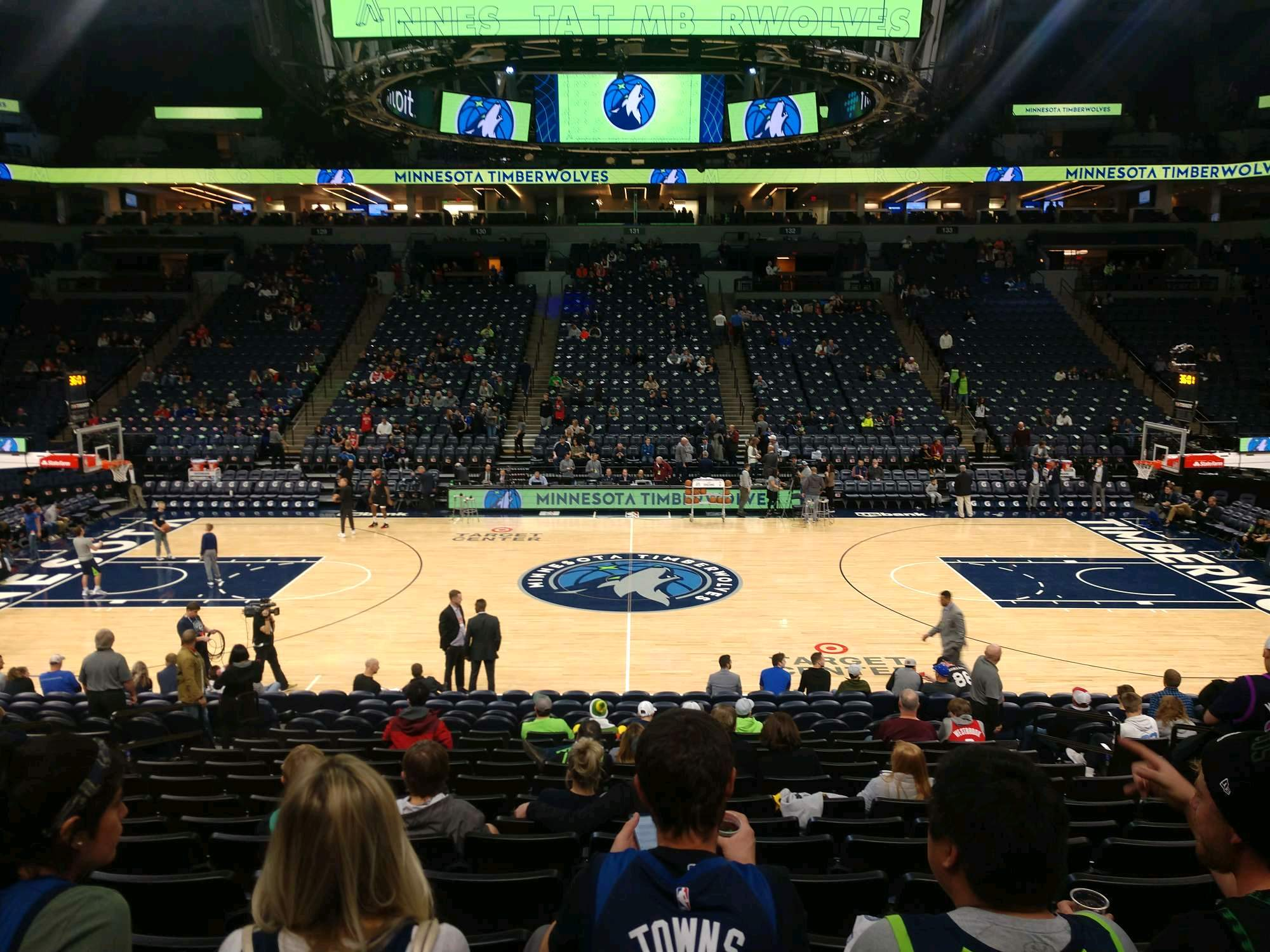 Target Center Section 111 Row N Seat 7