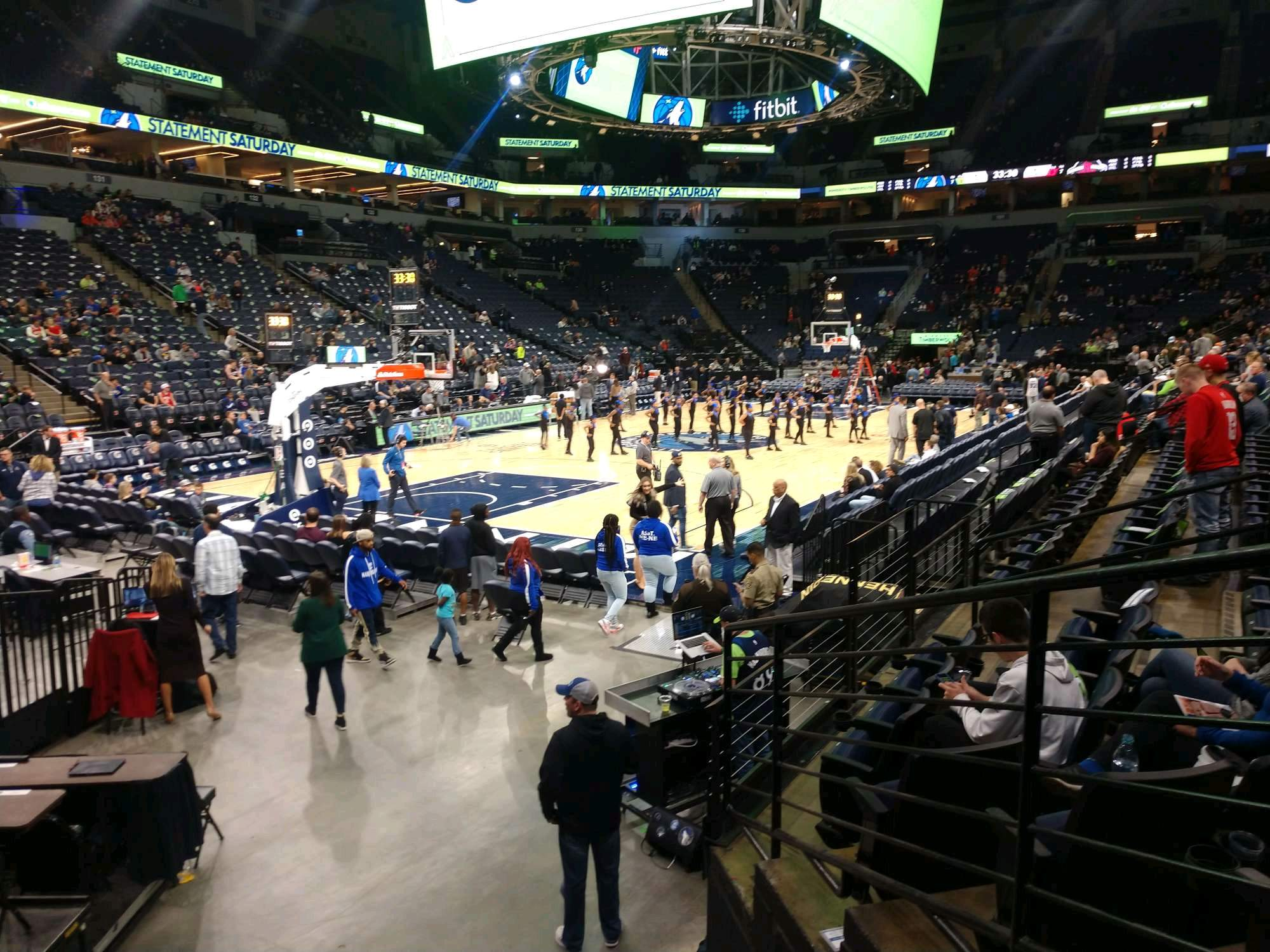 Target Center Section 116 Row F Seat 13