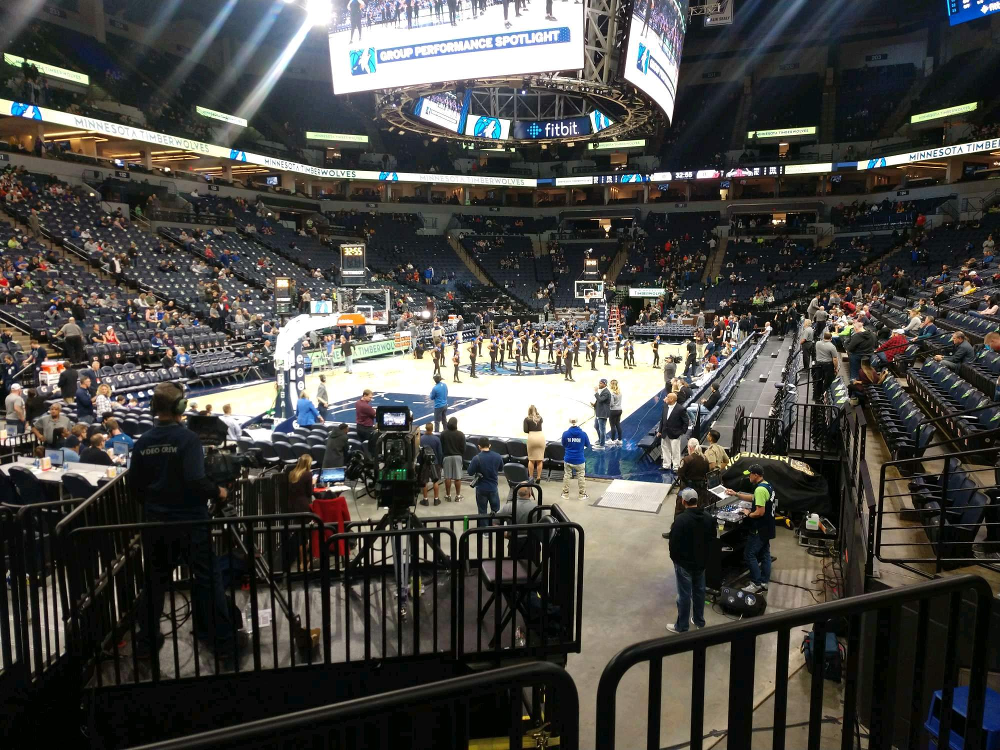 Target Center Section 118 Row G Seat 4