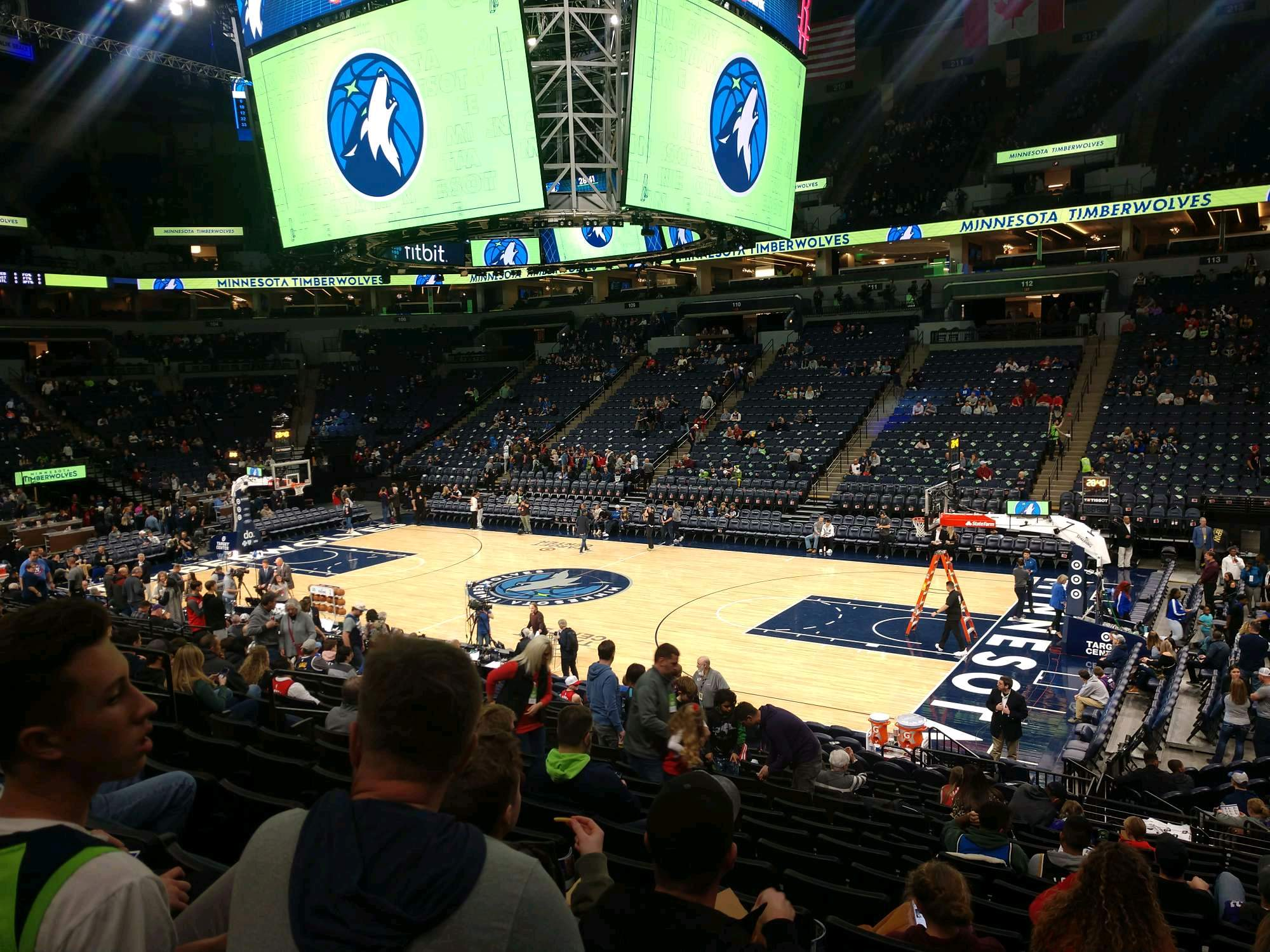 Target Center Section 129 Row Q Seat 3