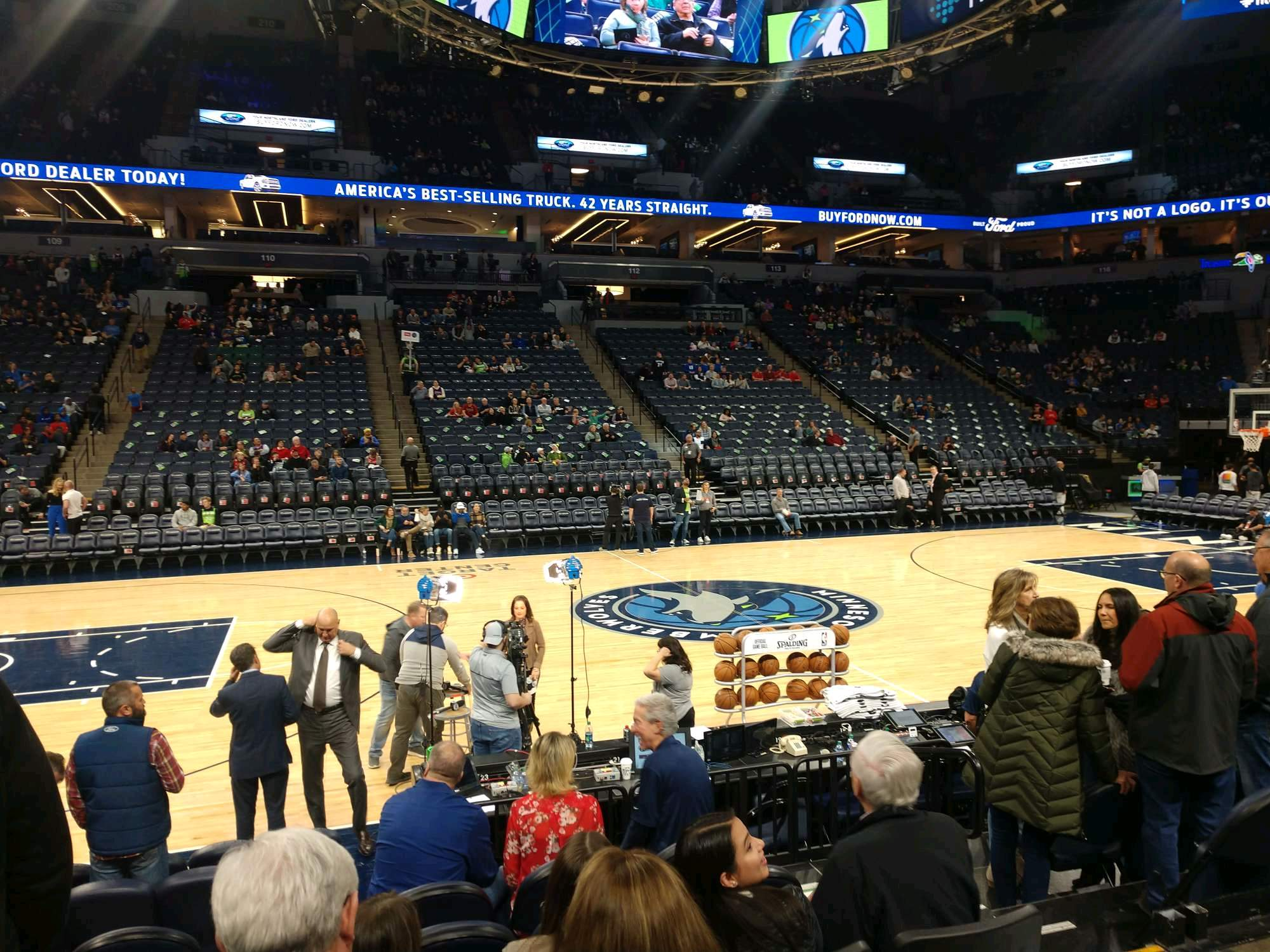 Target Center Section 132 Row D Seat 4