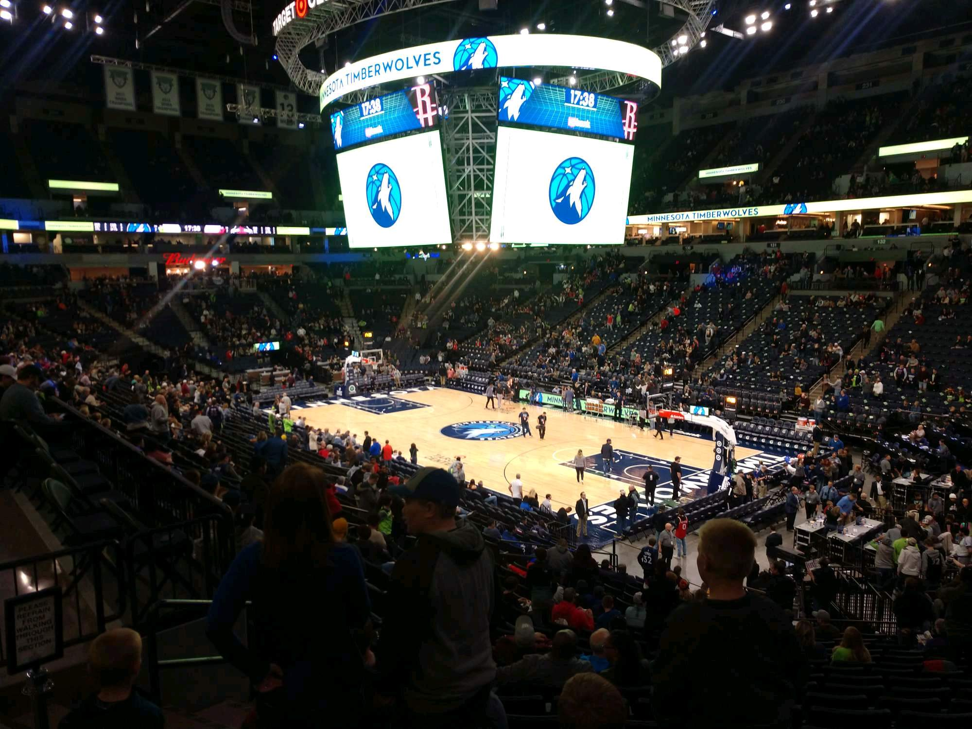 Target Center Section 106 Row X Seat 9