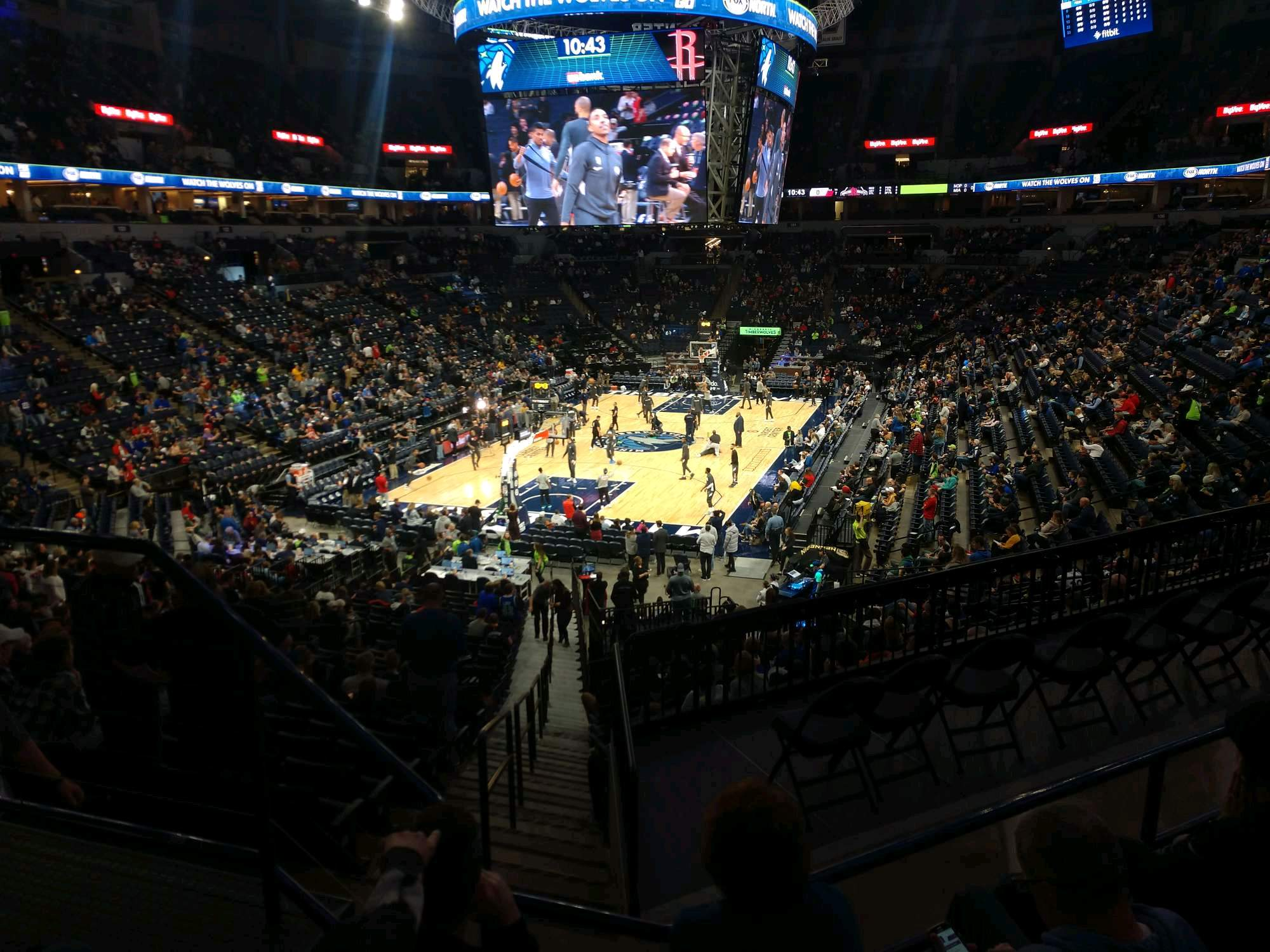 Target Center Section 118 Row Y Seat 17