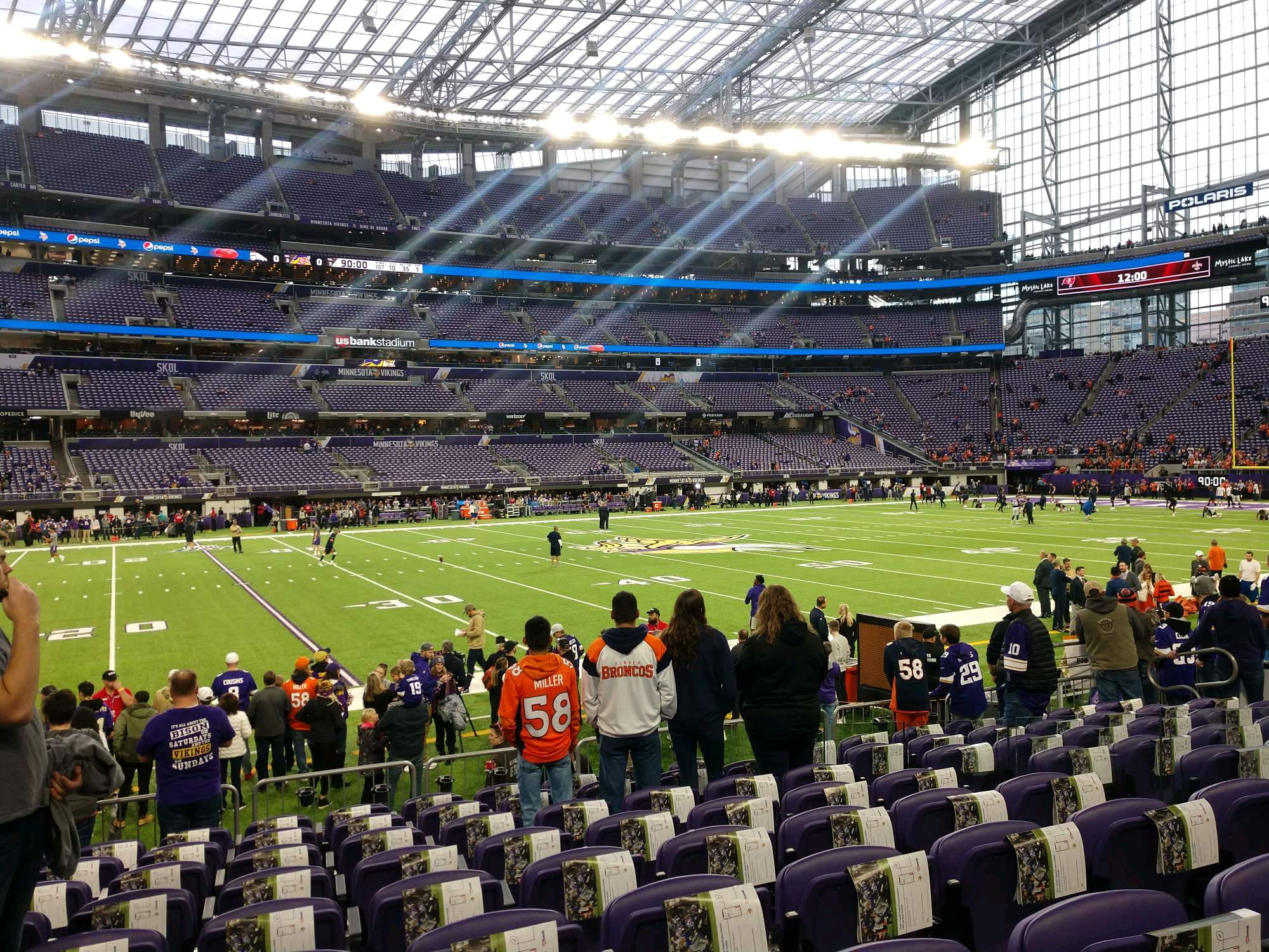 U.S. Bank Stadium Section 111 Row 9 Seat 7