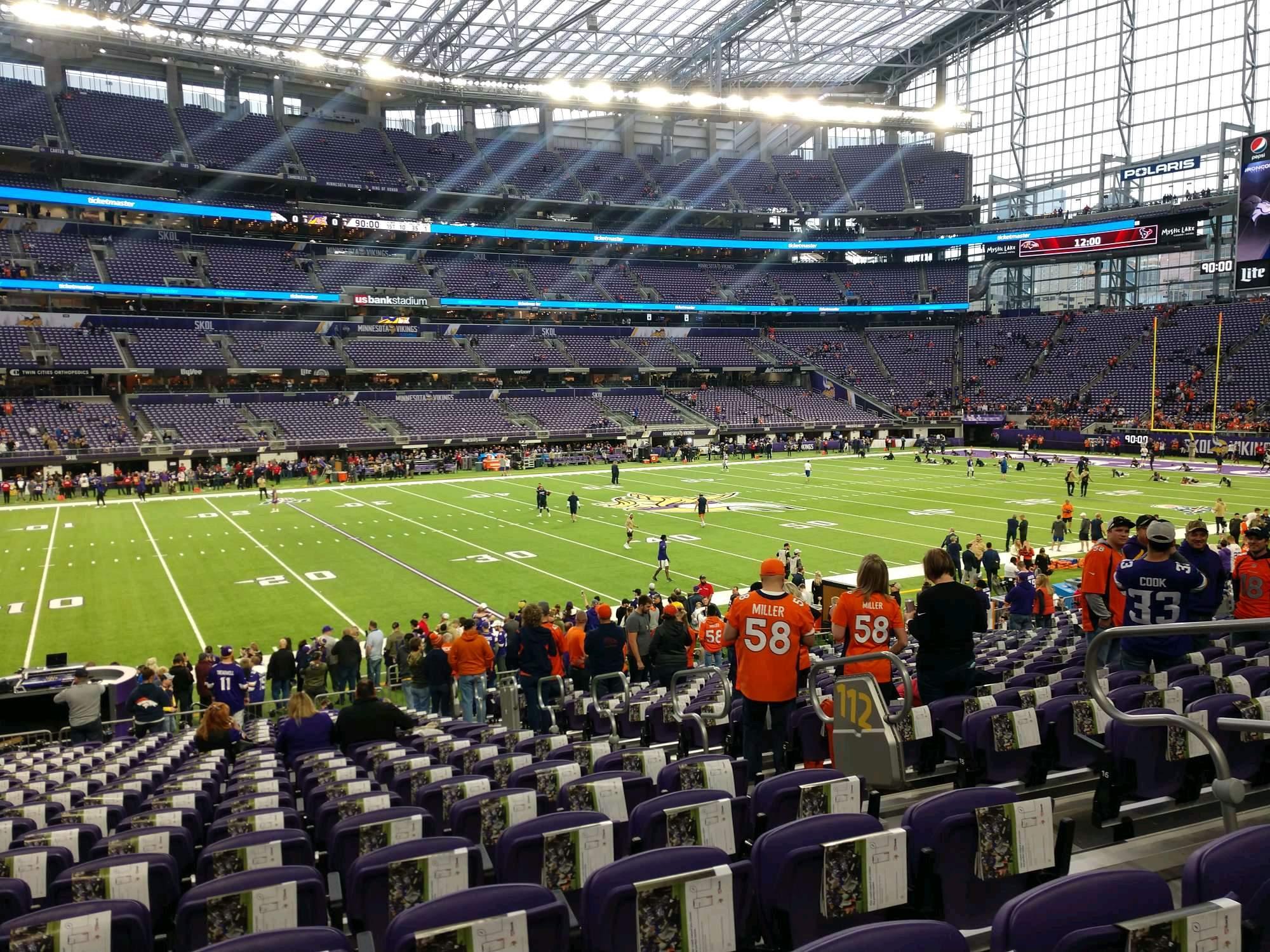 U.S. Bank Stadium Section 112 Row 20 Seat 5