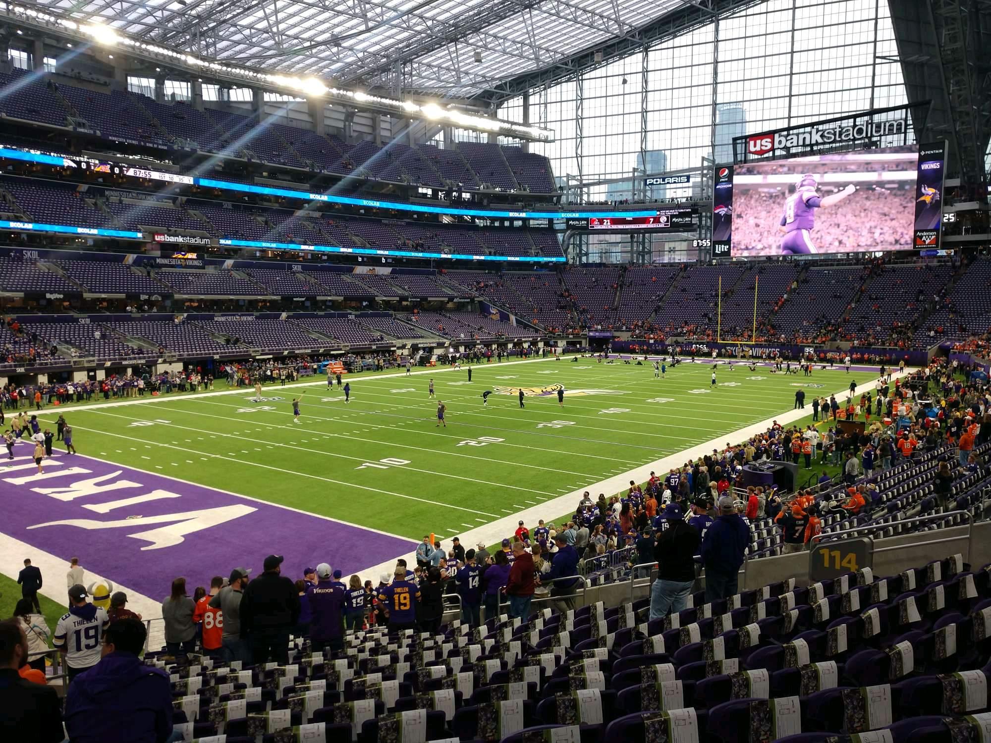 U.S. Bank Stadium Section 114 Row 19 Seat 22