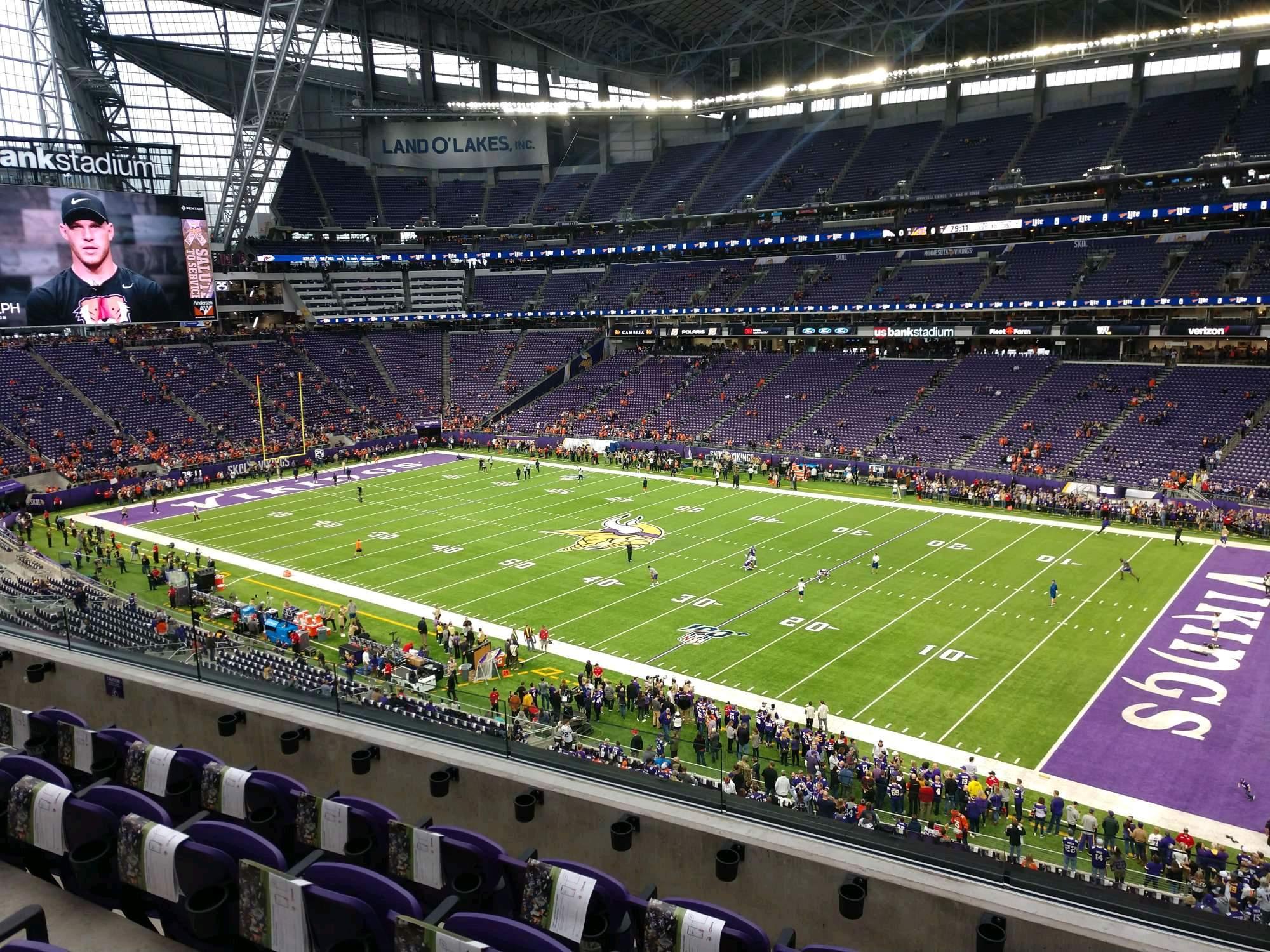 U.S. Bank Stadium Section 229 Row 4 Seat 4