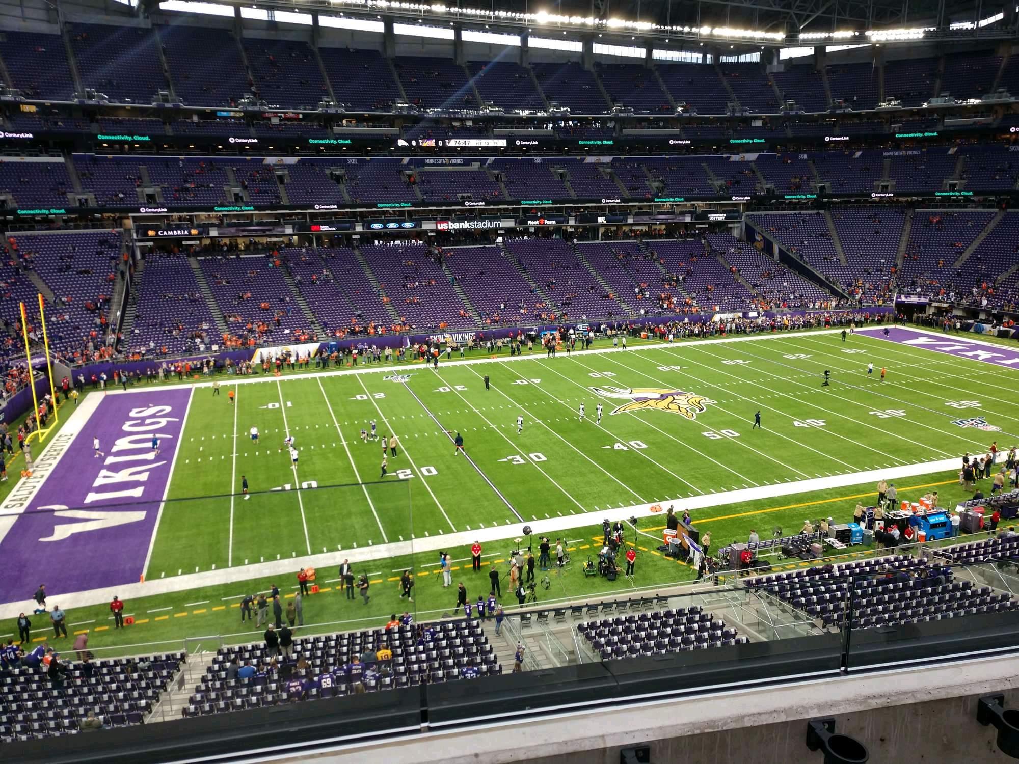 U.S. Bank Stadium Section 237 Row 2 Seat 12