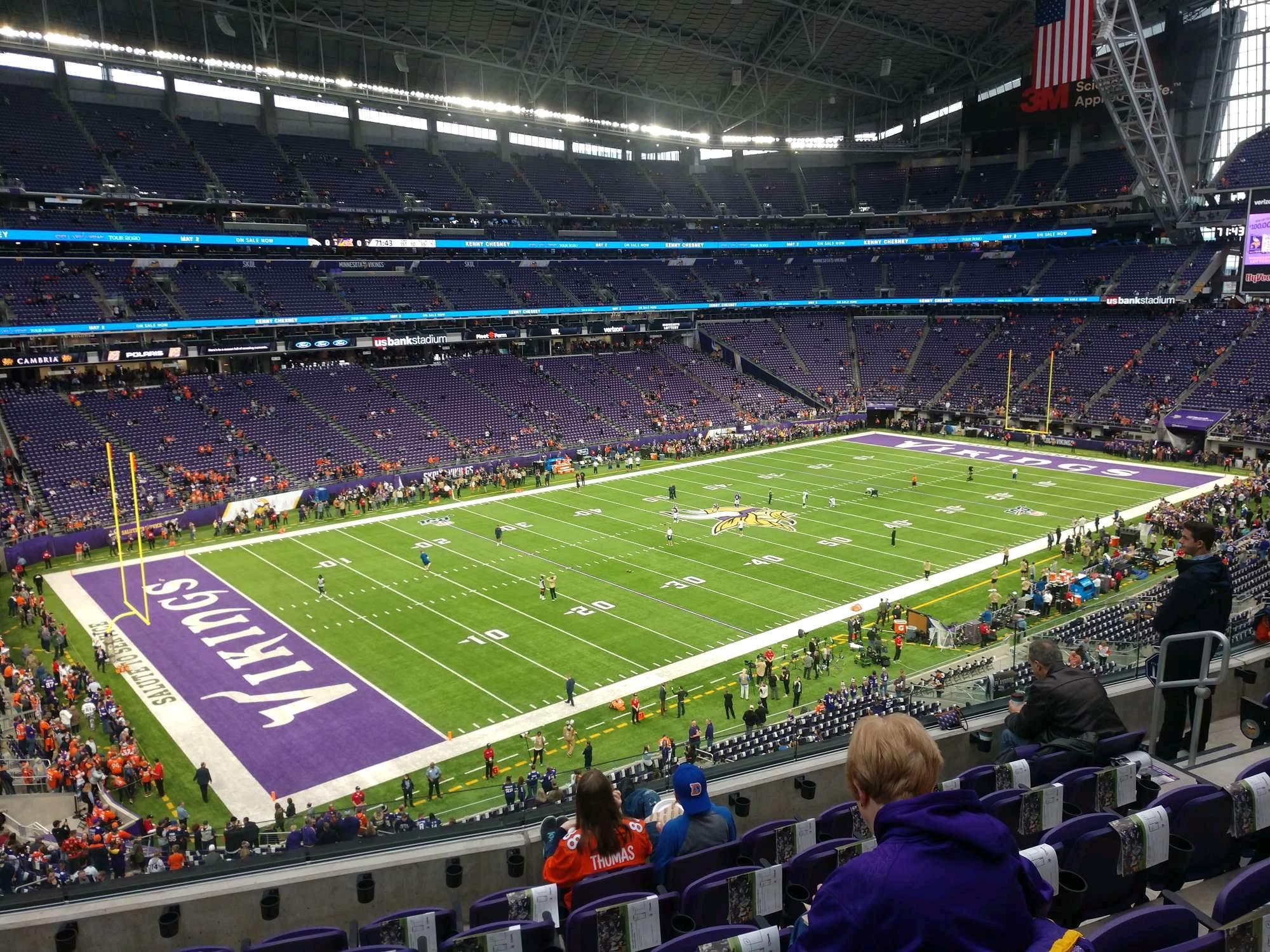 U.S. Bank Stadium Section 240 Row 6 Seat 10