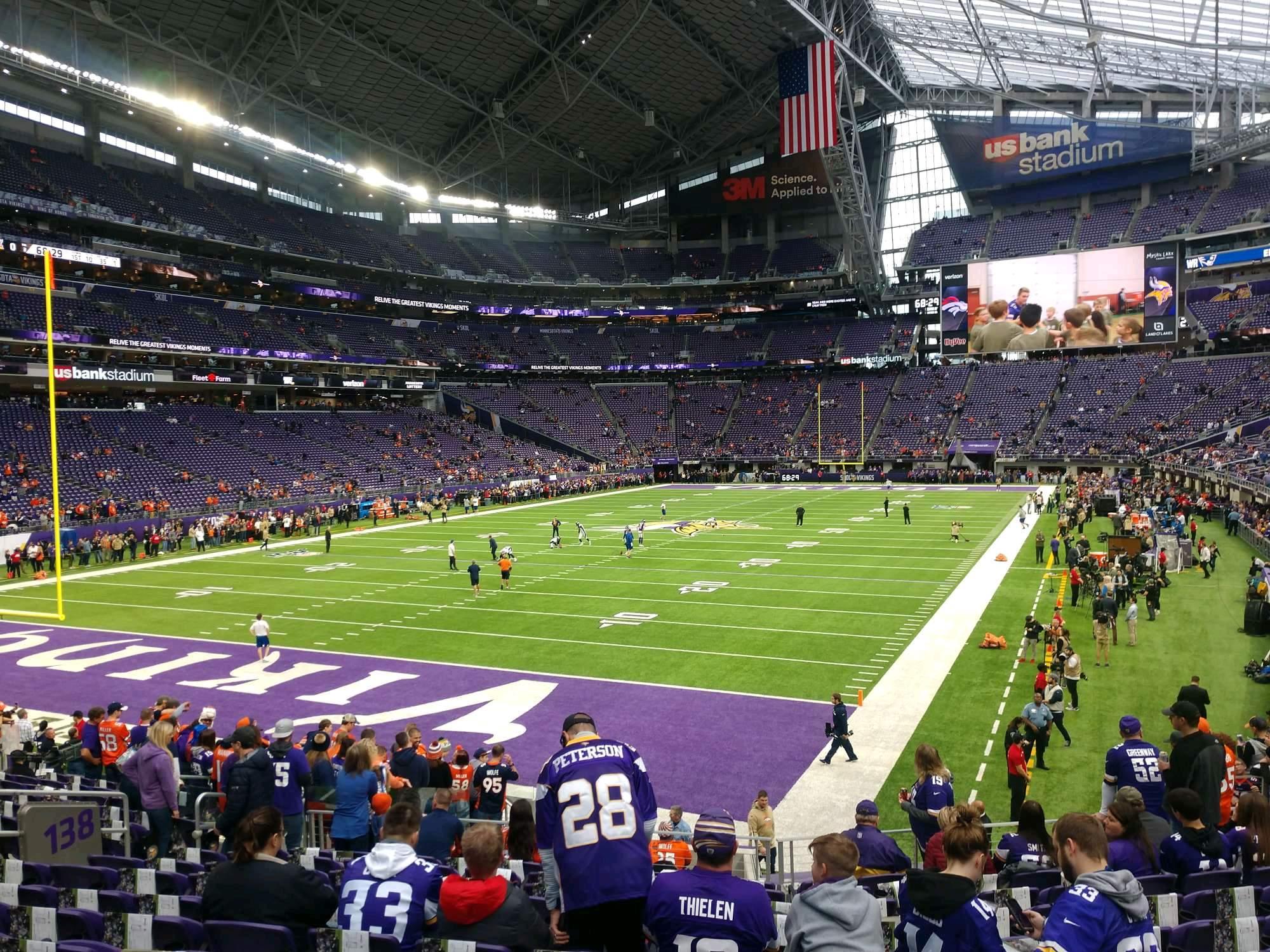 U.S. Bank Stadium Section 138 Row 16 Seat 18