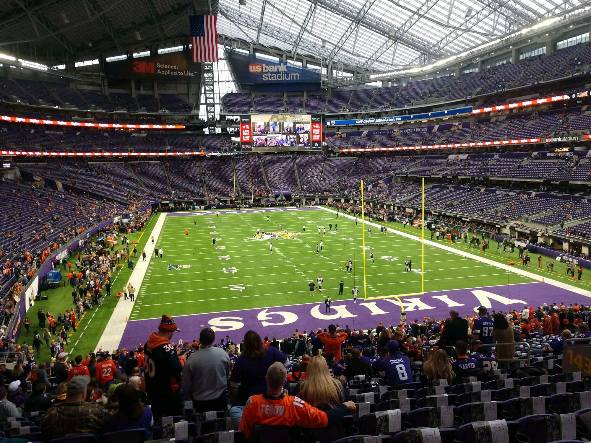 U.S. Bank Stadium Section 143 Row 36 Seat 11
