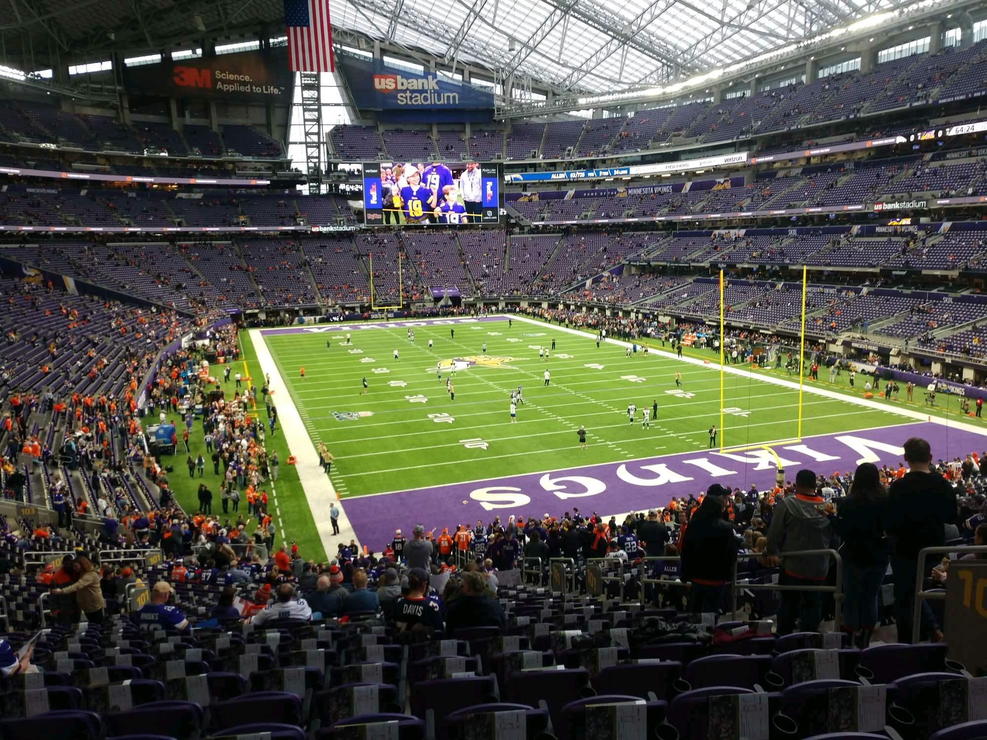 U.S. Bank Stadium Section 101 Row 37 Seat 7