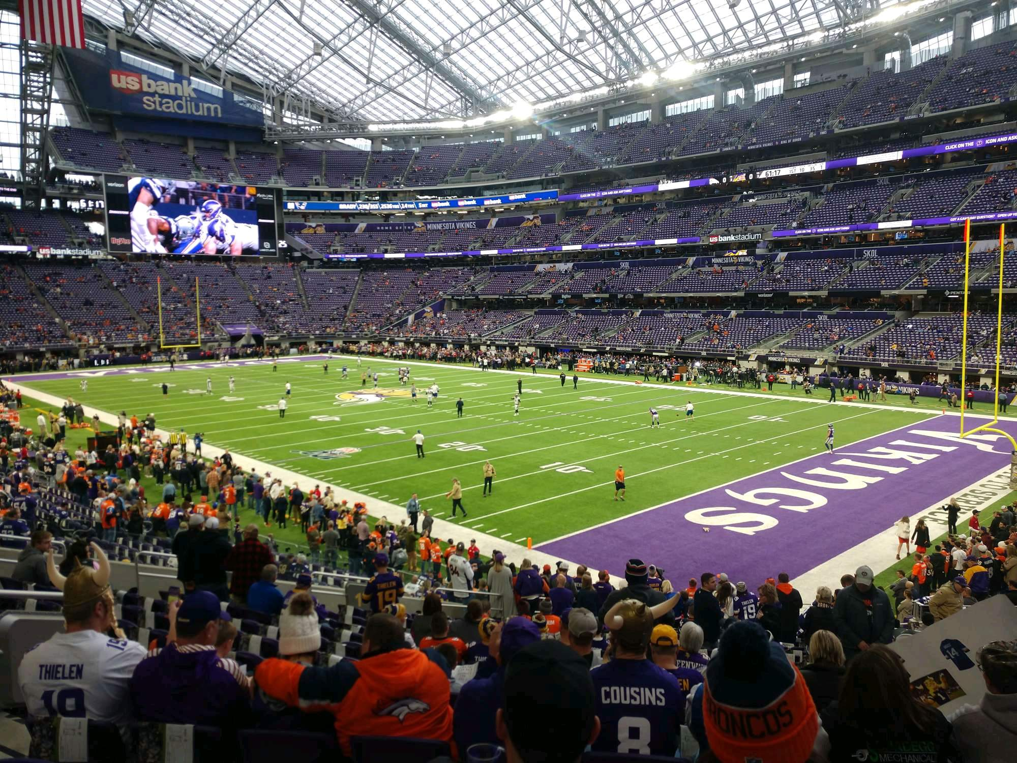 U.S. Bank Stadium Section 103 Row 22 Seat 11