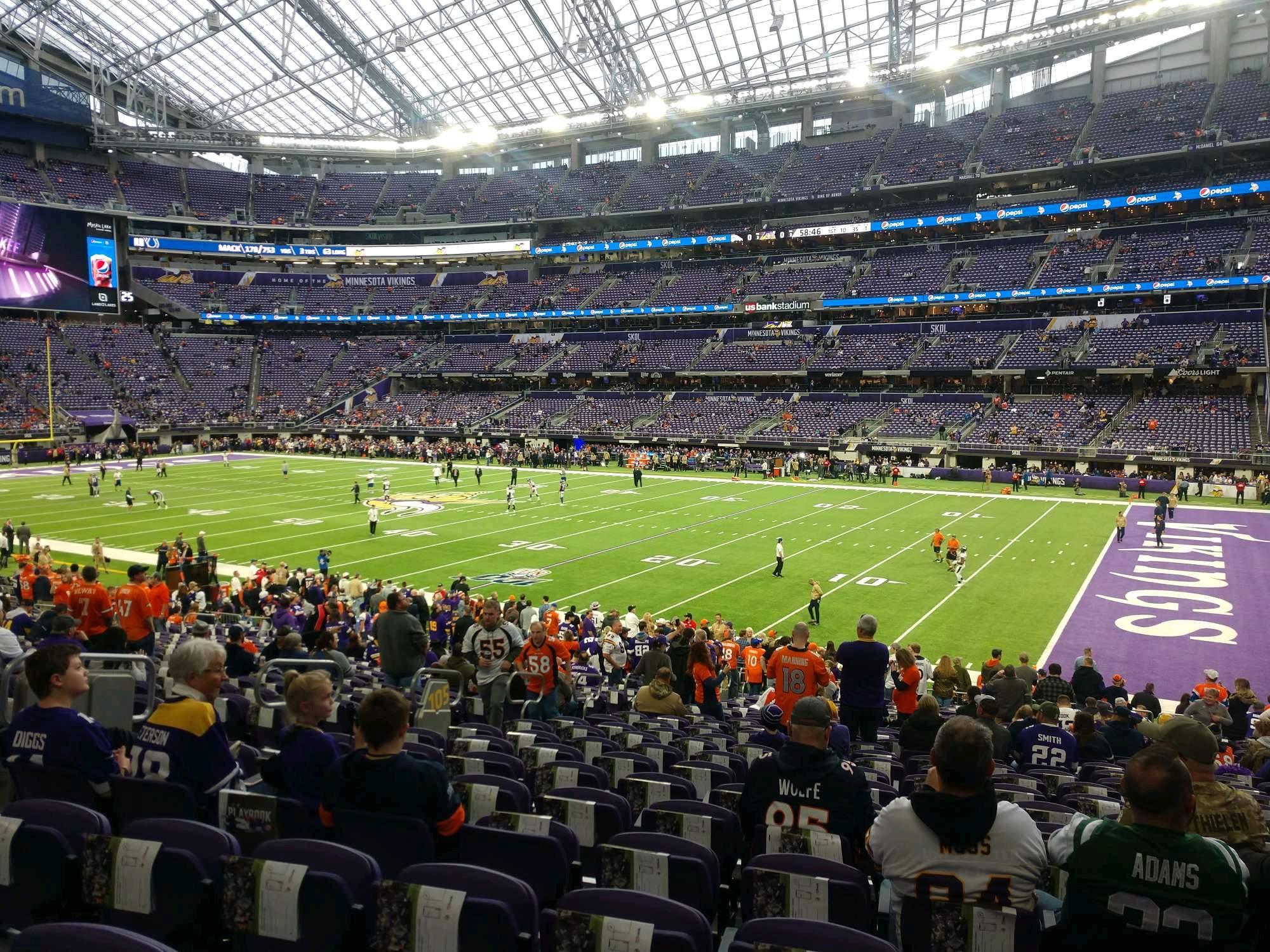 U.S. Bank Stadium Section 105 Row 24 Seat 8