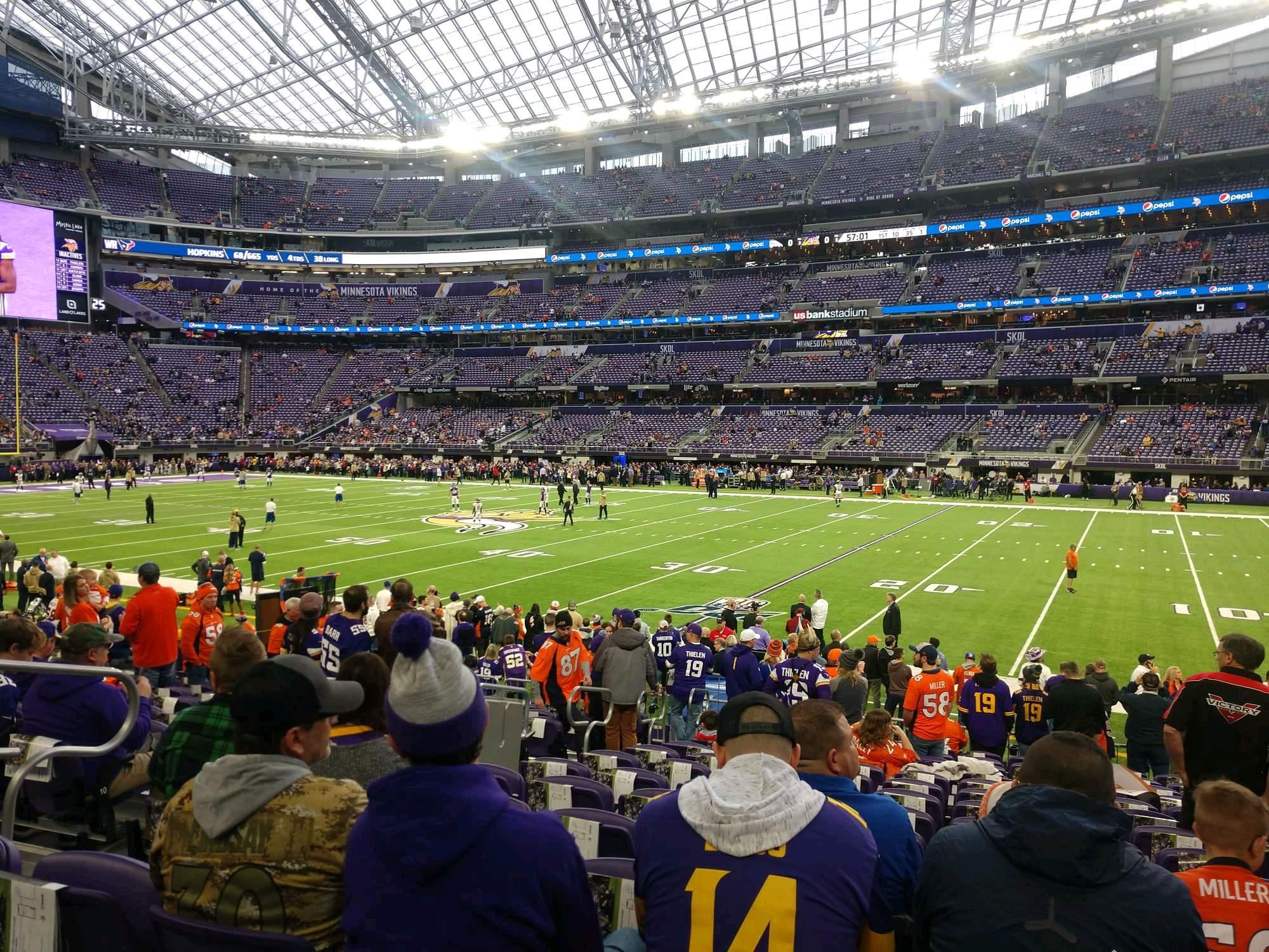 U.S. Bank Stadium Section 106 Row 14 Seat 17