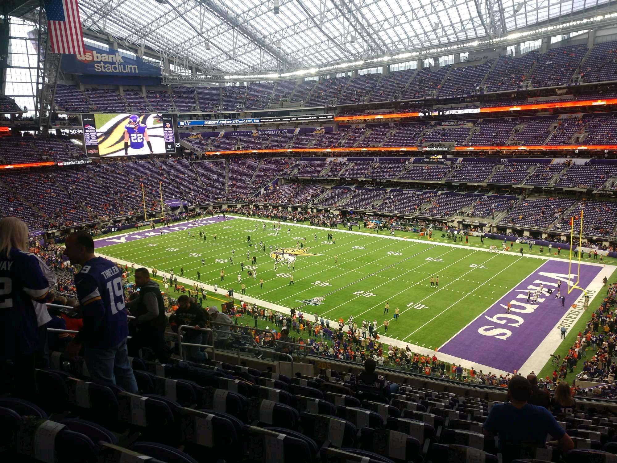 U.S. Bank Stadium Section 205 Row 13 Seat 11