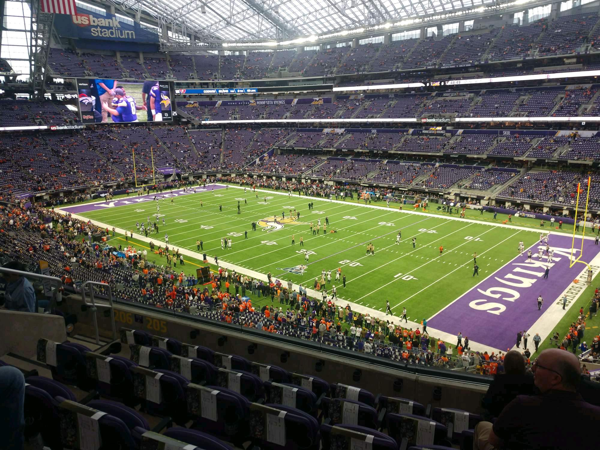 U.S. Bank Stadium Section 205 Row 6 Seat 9