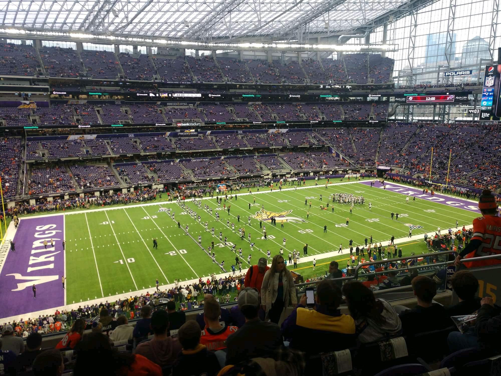 U.S. Bank Stadium Section 215 Row 11 Seat 7