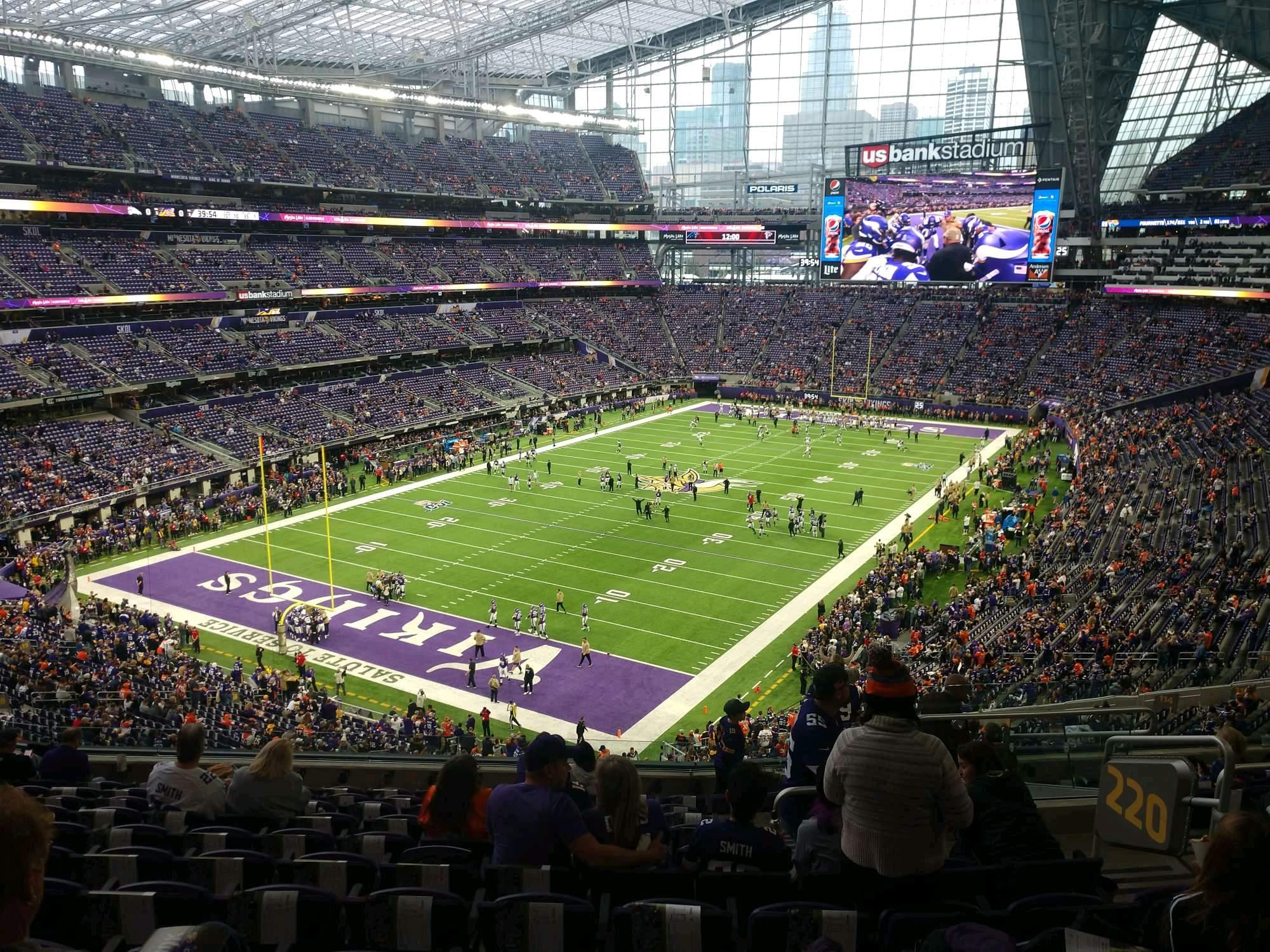 U.S. Bank Stadium Section 220 Row 11 Seat 6