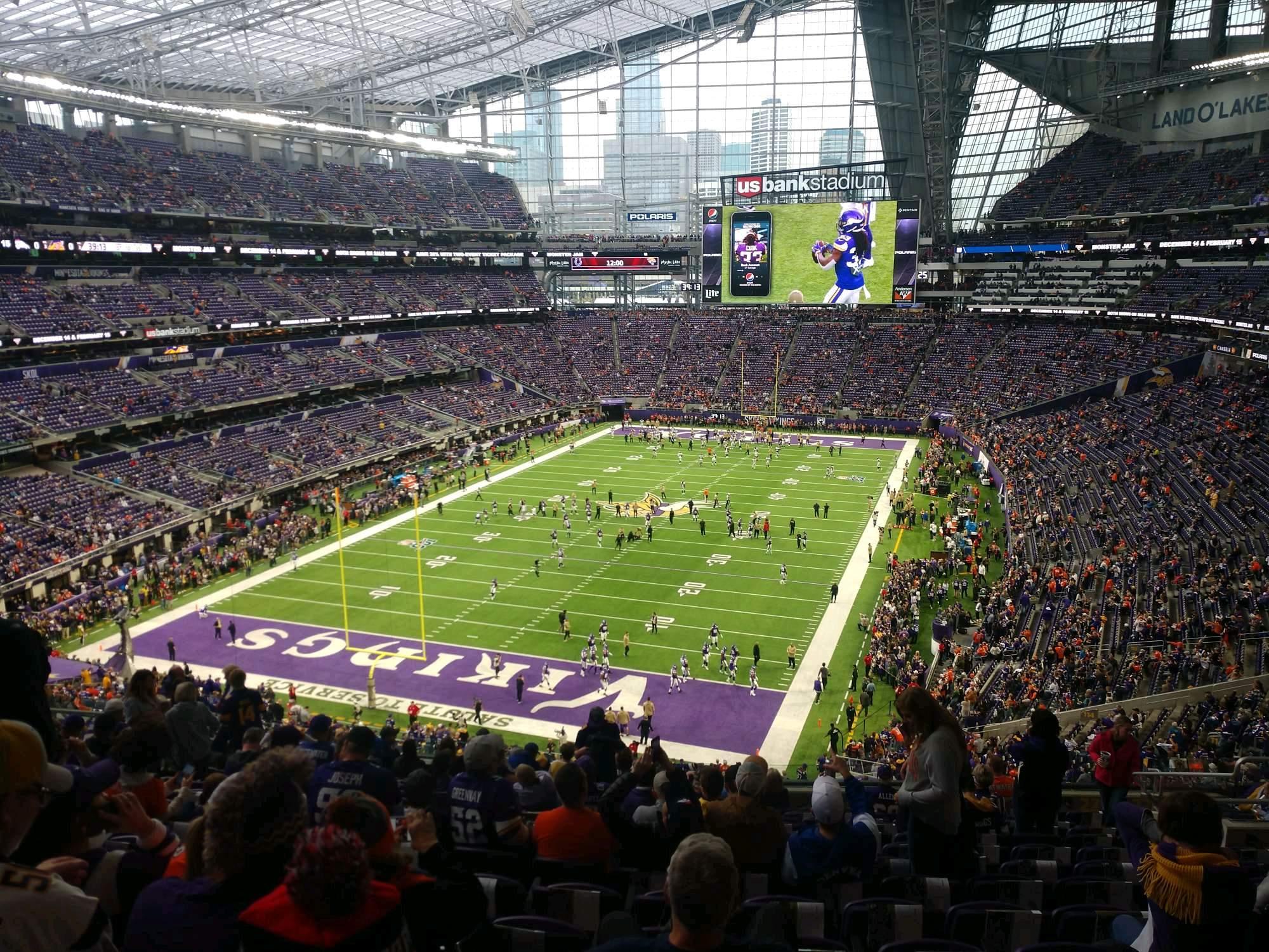 U.S. Bank Stadium Section 221 Row 14 Seat 12