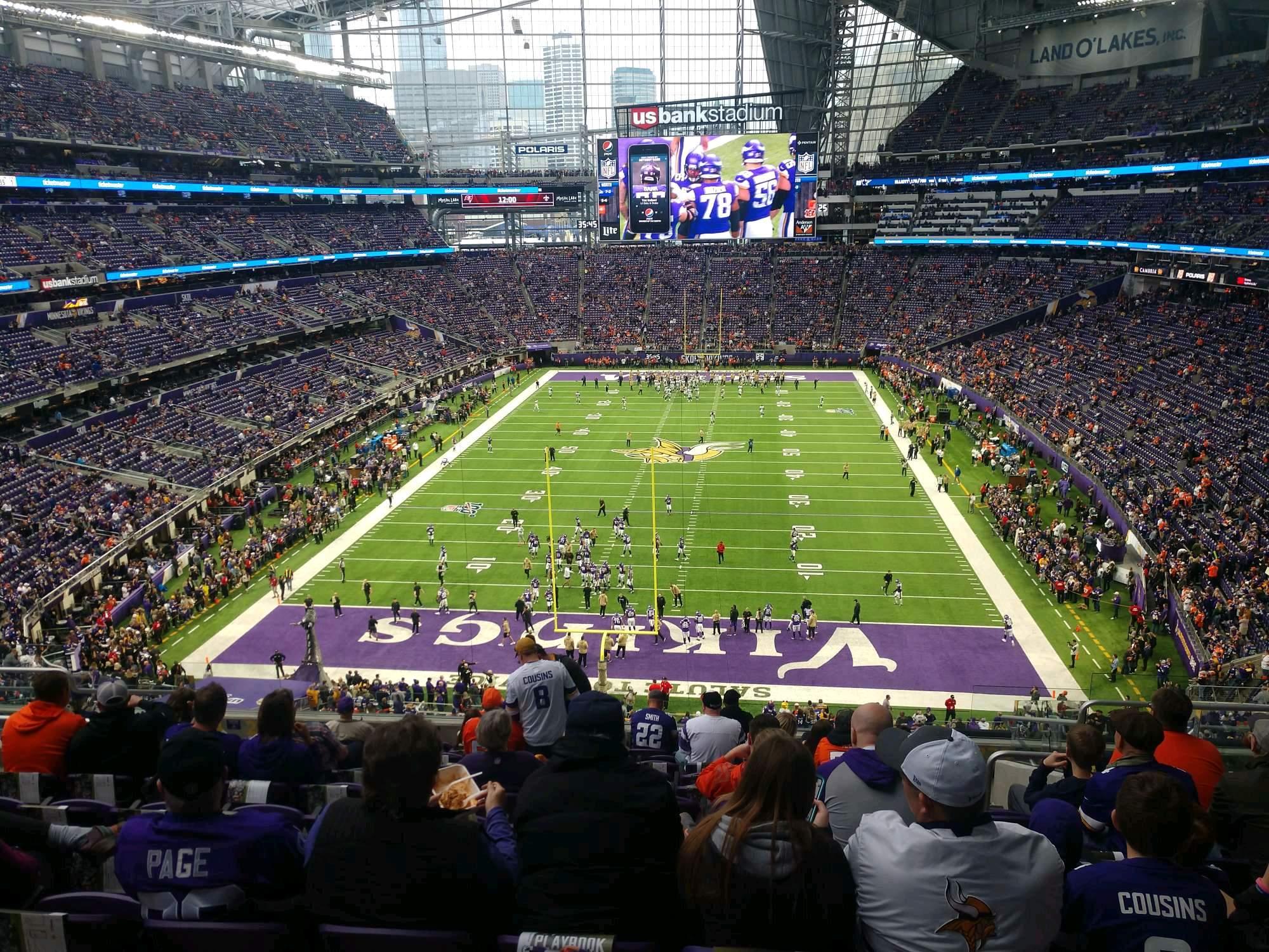 U.S. Bank Stadium Section 223 Row 12 Seat 6