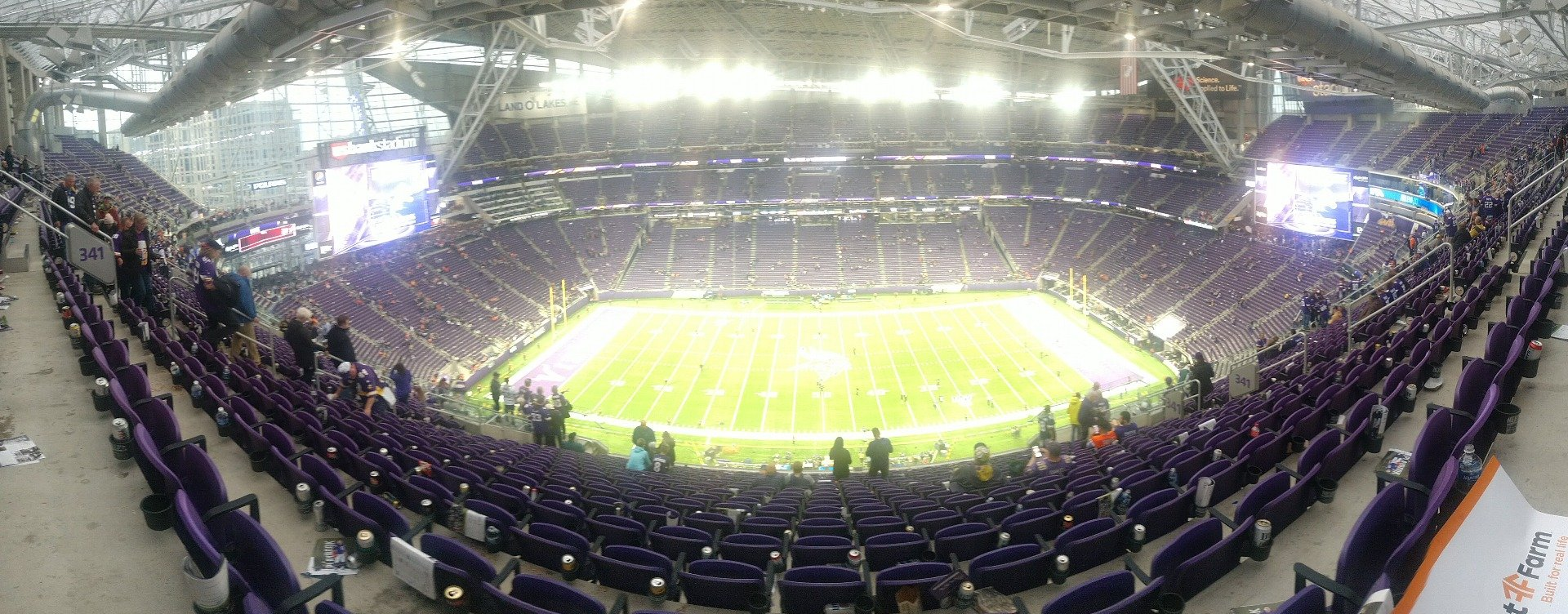 U.S. Bank Stadium Section 341 Row 16 Seat 14