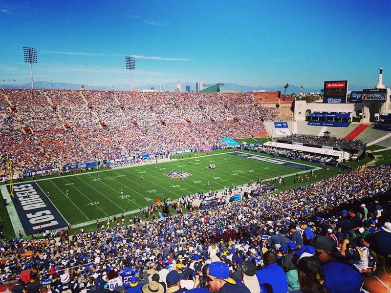 Los Angeles Memorial Coliseum Section 10H Row 82 Seat 107