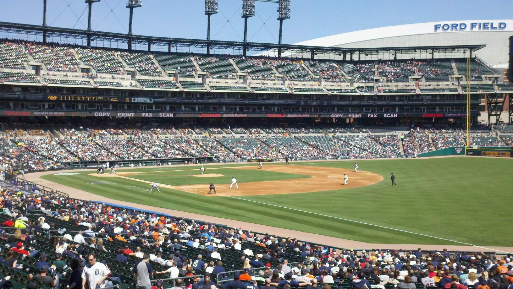 Comerica Park Section 114 Row 43