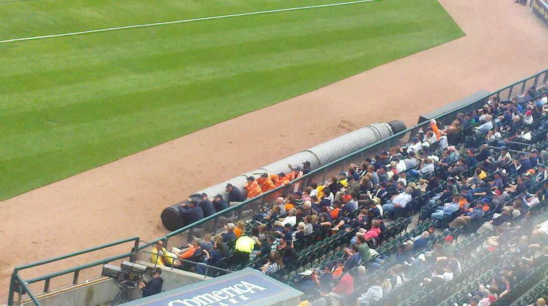 Comerica Park Section 324 Row 1 Seat 9