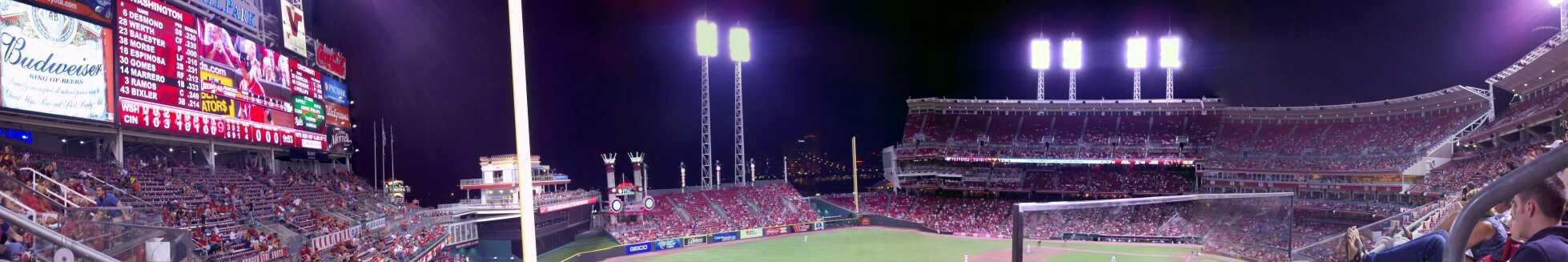 Great American Ball Park Section 410 Row A Seat 1