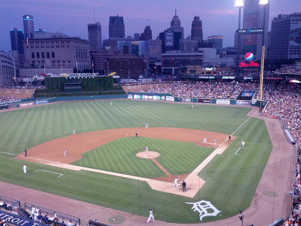 Comerica Park Section 330 Row B Seat 1