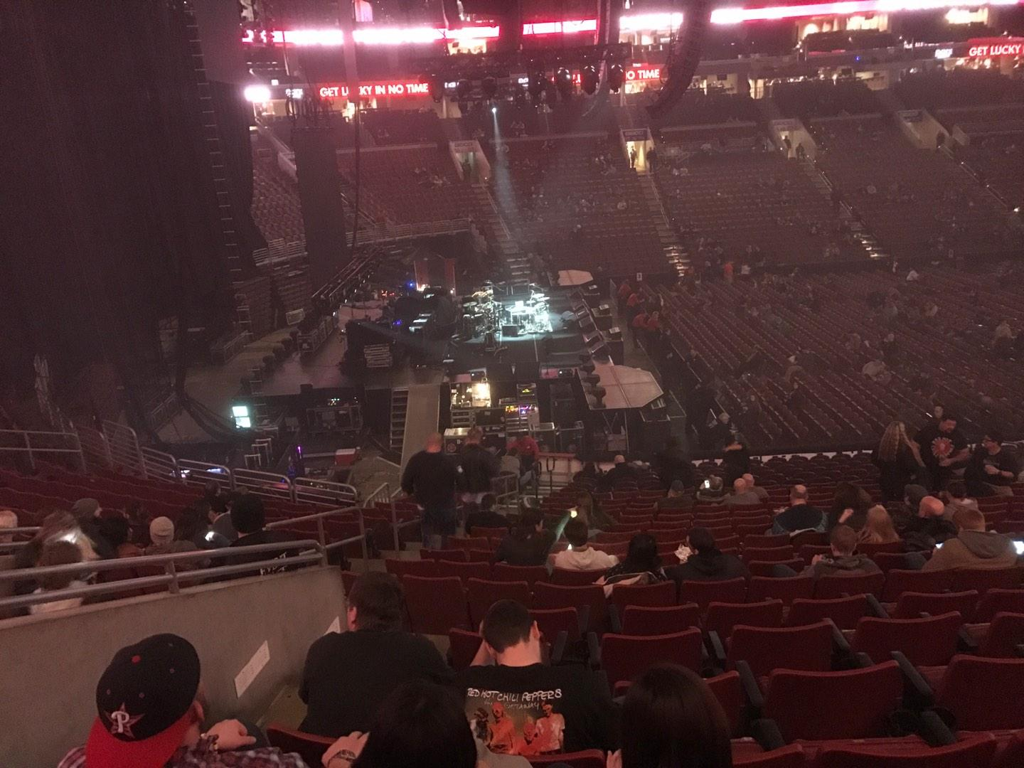 Wells Fargo Center Section CB23 Row 1 Seat 5