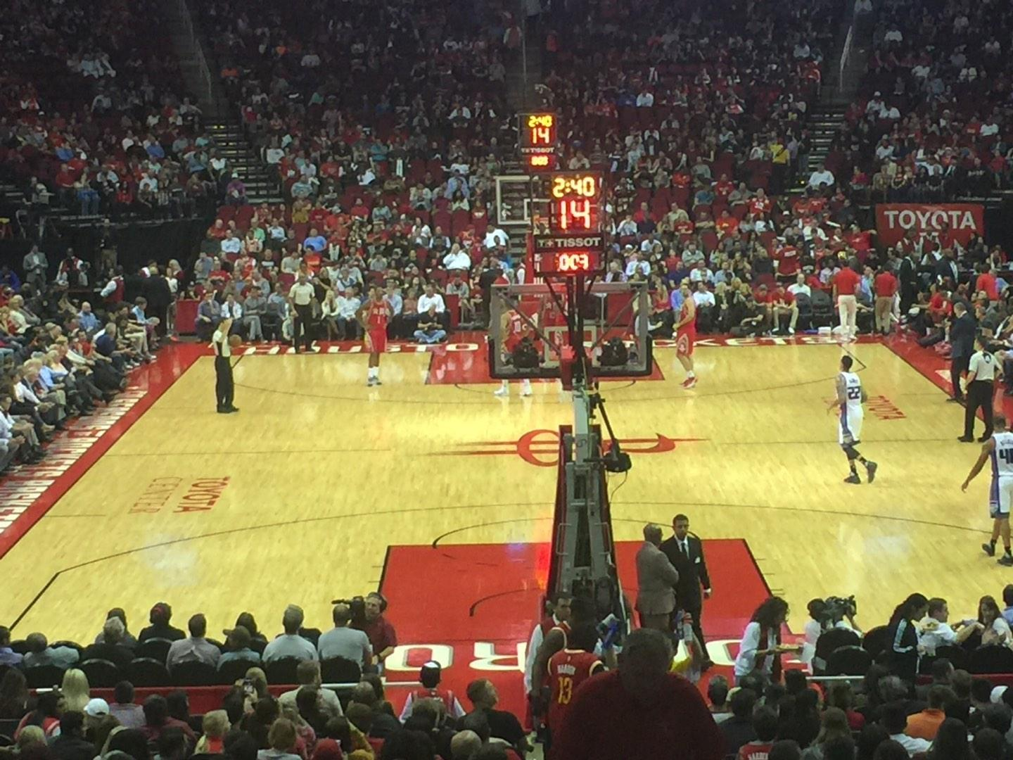 Toyota Center Section 101 Row 18 Seat 1