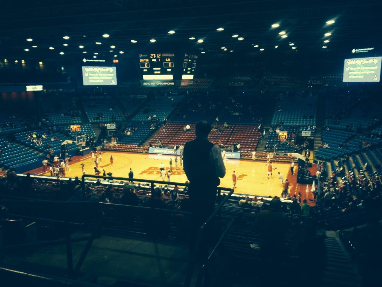 University Of Dayton Arena Section 309 Row F Seat 12