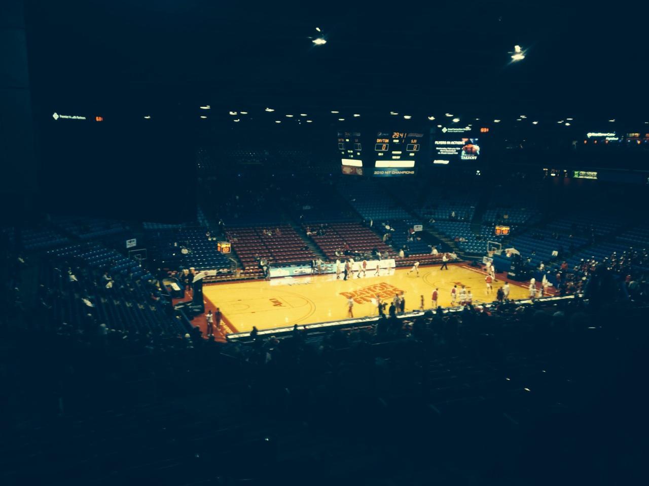 University Of Dayton Arena Section 314 Row M Seat 3