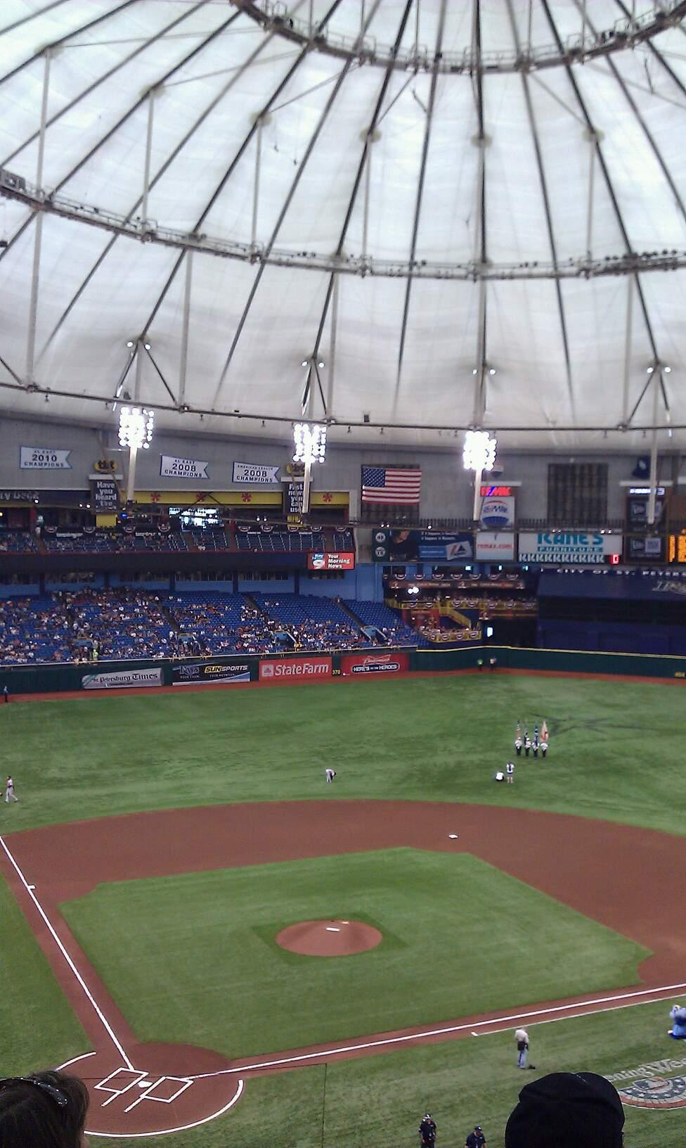 Tropicana Field Section 306 Row g Seat 1