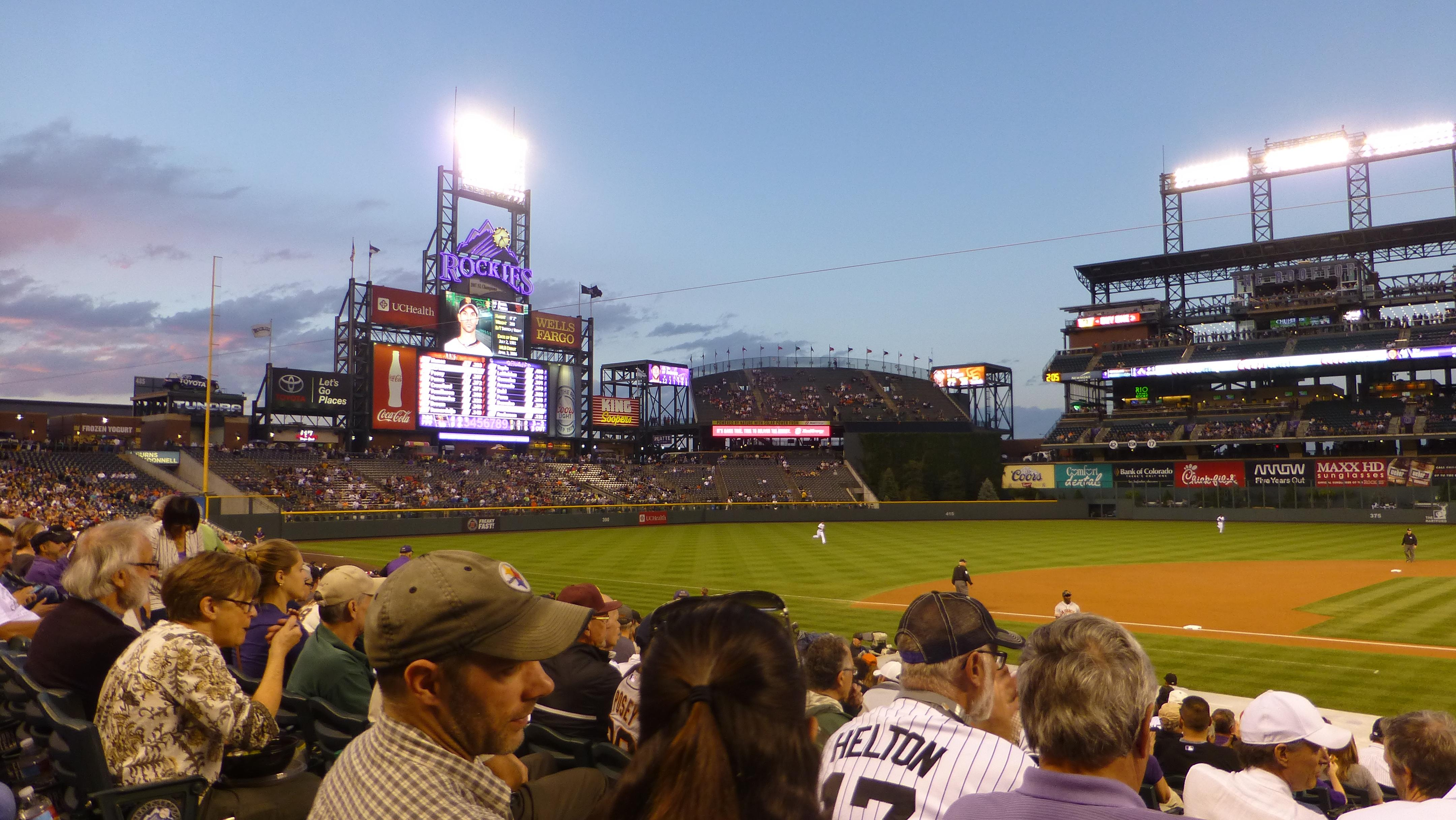 Coors Field Section 137 Row 19 Seat 10