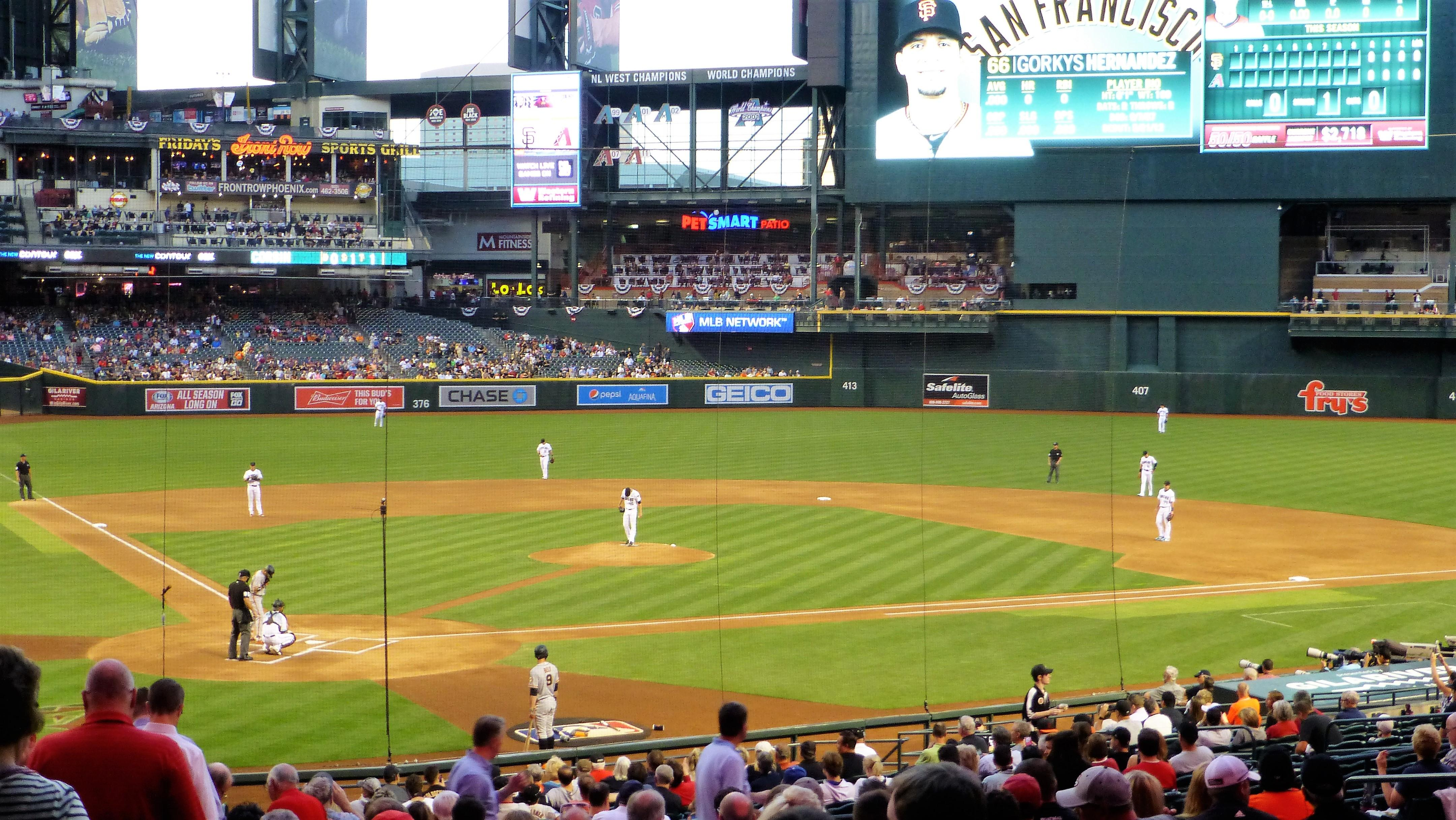 Chase Field Section 119 Row 35 Seat 16
