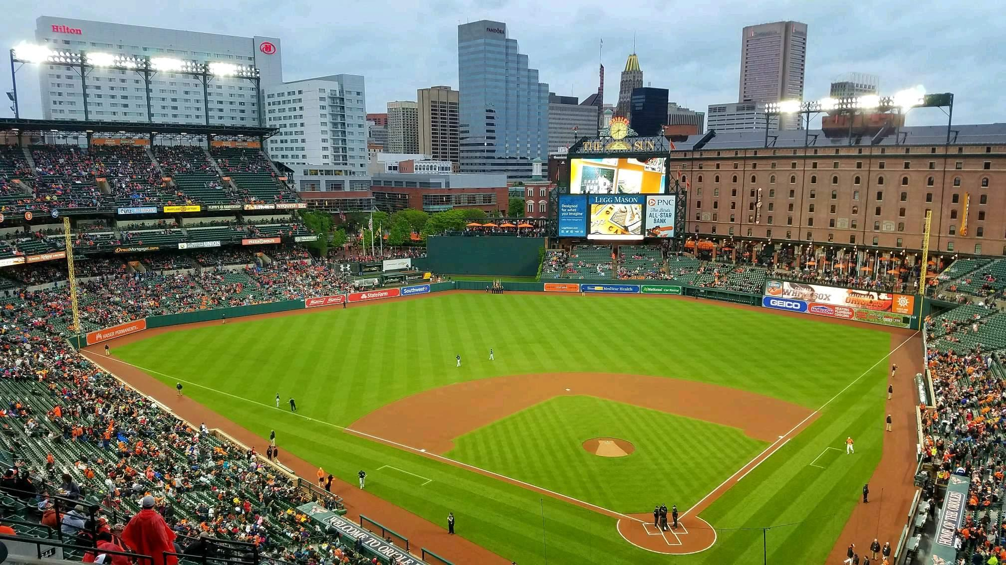 Oriole Park at Camden Yards Section 342 Row 17 Seat 3