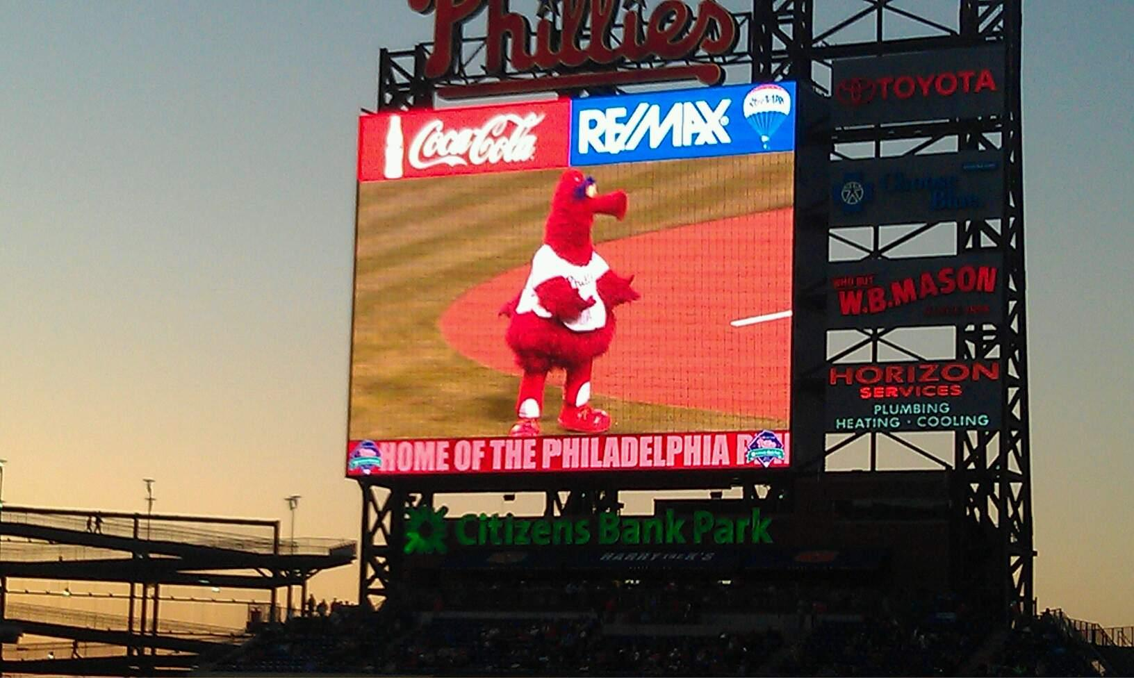 Citizens Bank Park Section 109 Row 36 Seat 10